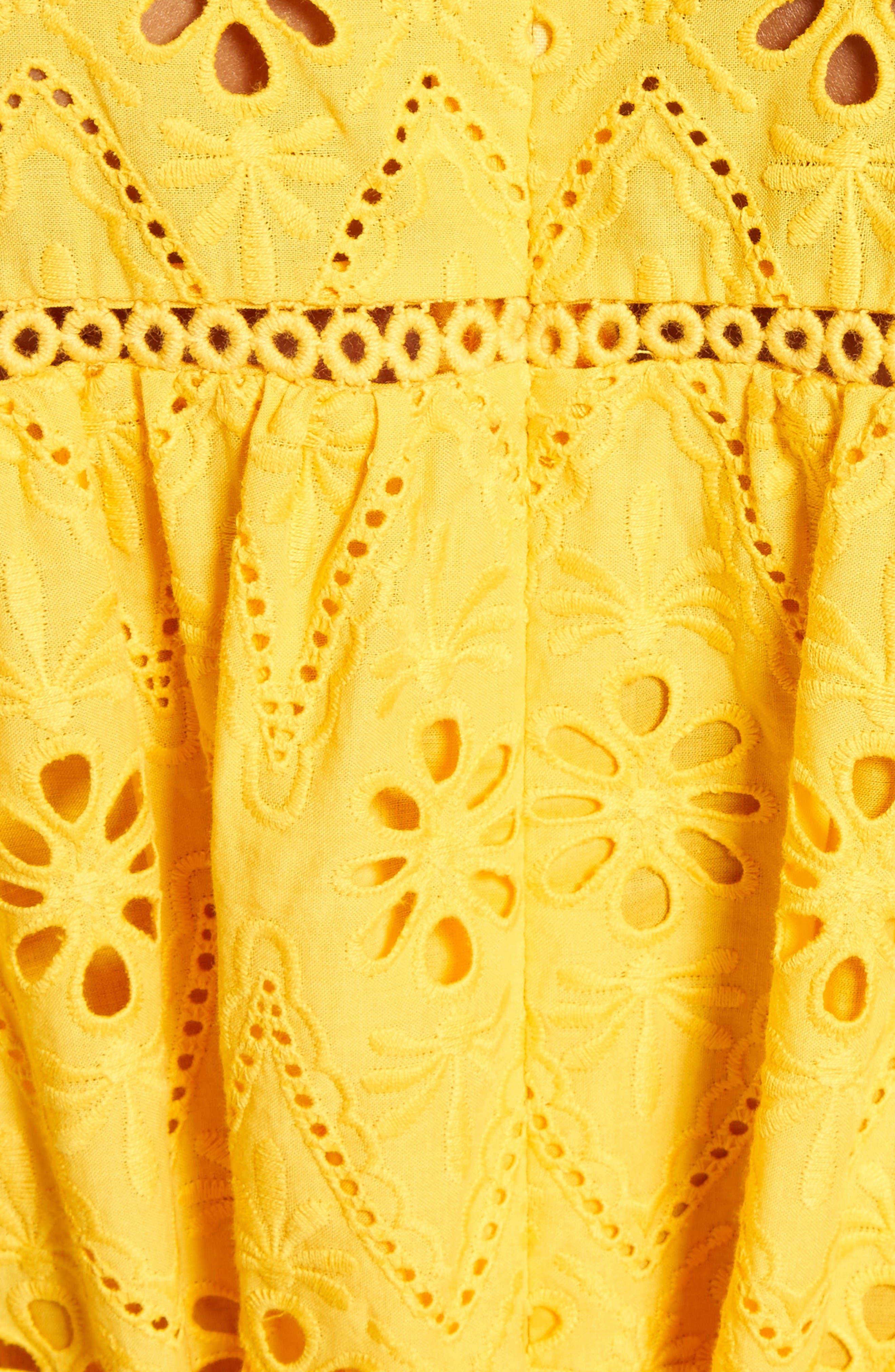 Alternate Image 5  - kate spade new york eyelet embroidered patio dress