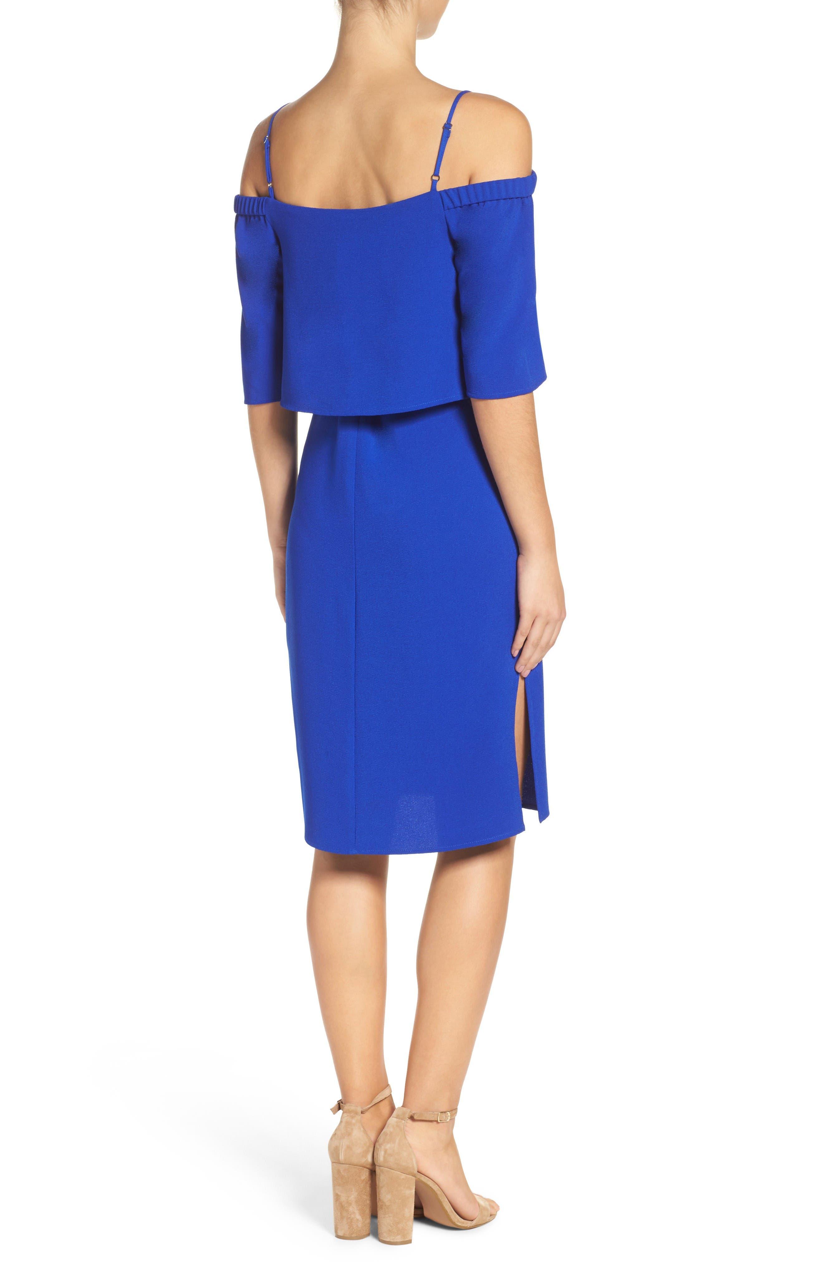 Alternate Image 2  - Charles Henry Popover Midi Dress