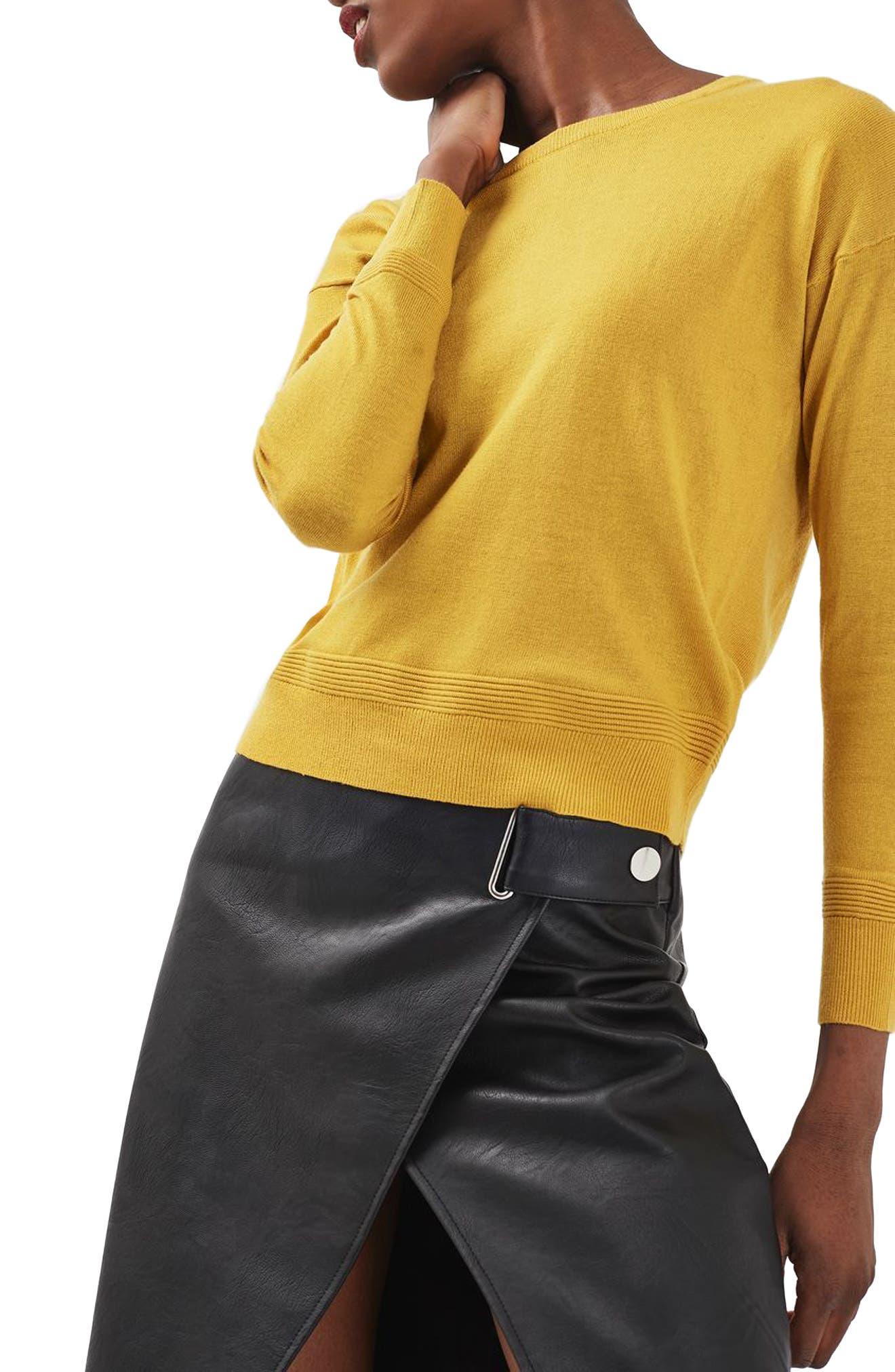 Alternate Image 1 Selected - Topshop Ottoman Rib Border Sweater