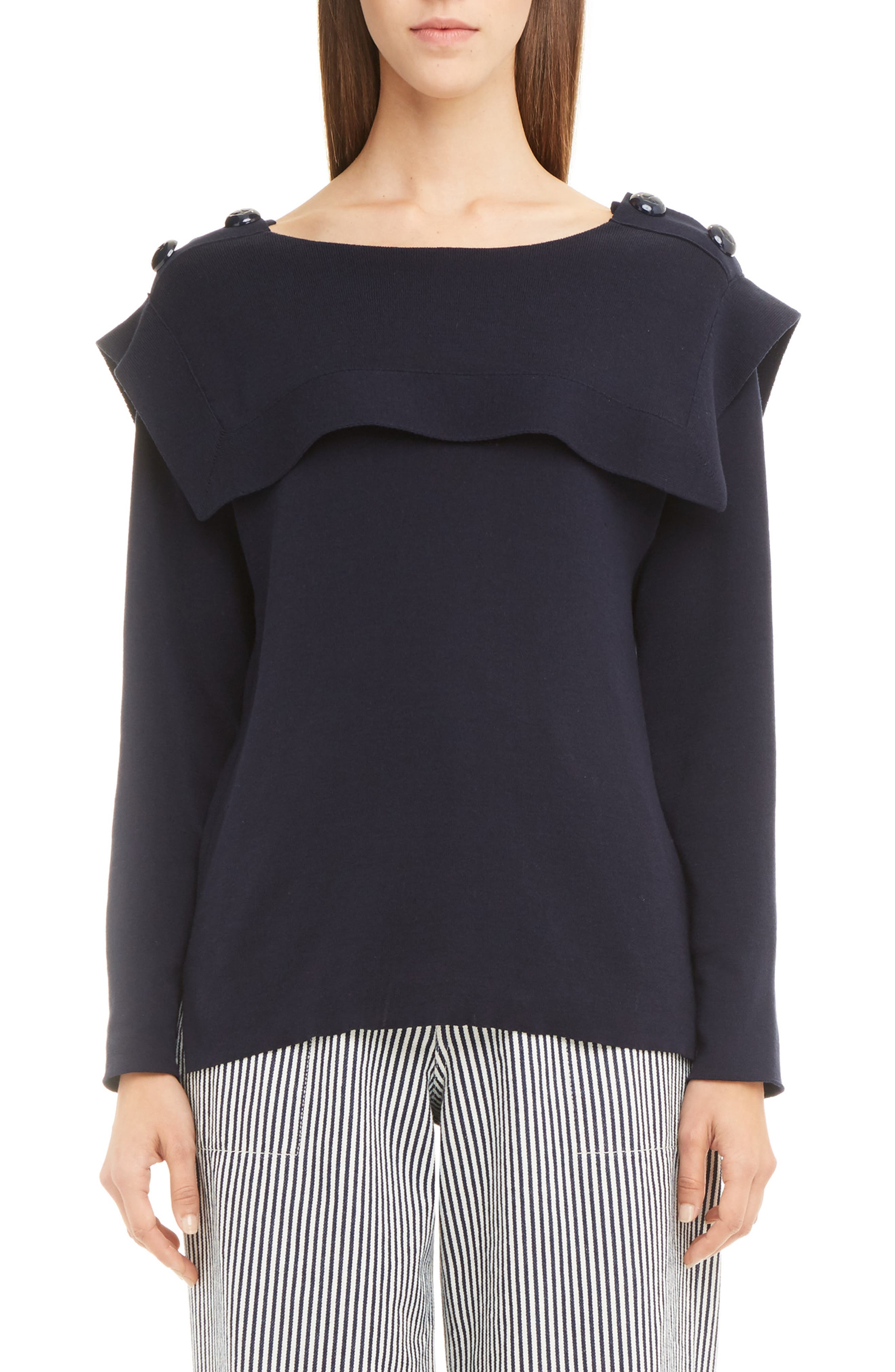 CHLOÉ Knit Cotton Sailor Sweater