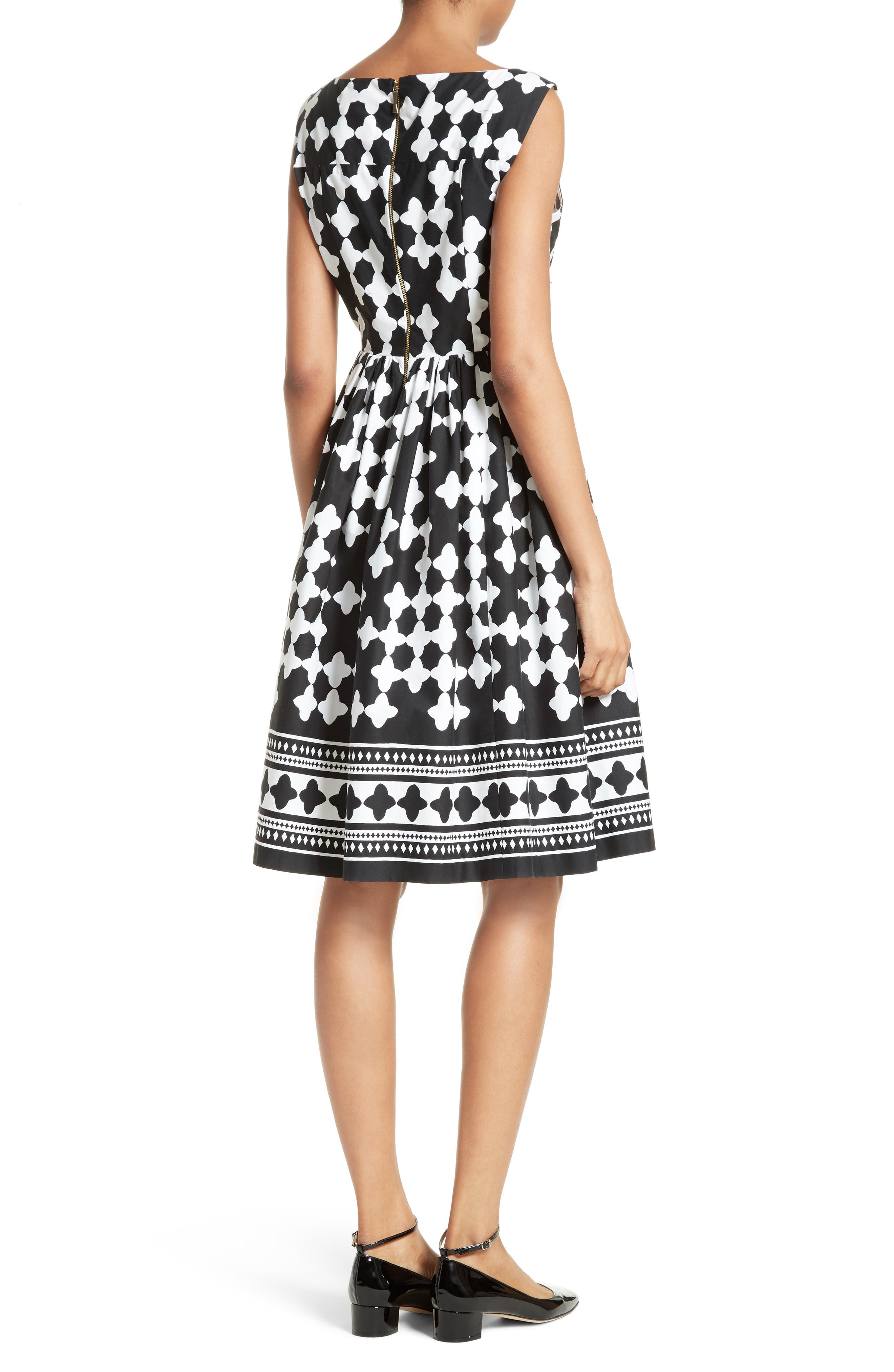 Alternate Image 2  - kate spade new york lantern print scoop neck dress