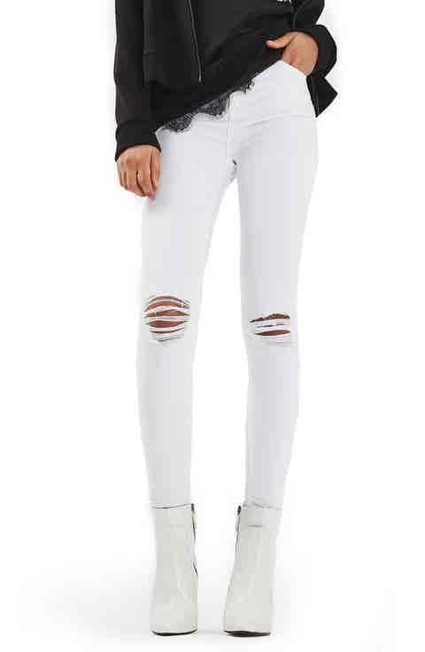 Topshop Jamie Ripped Skinny Jeans