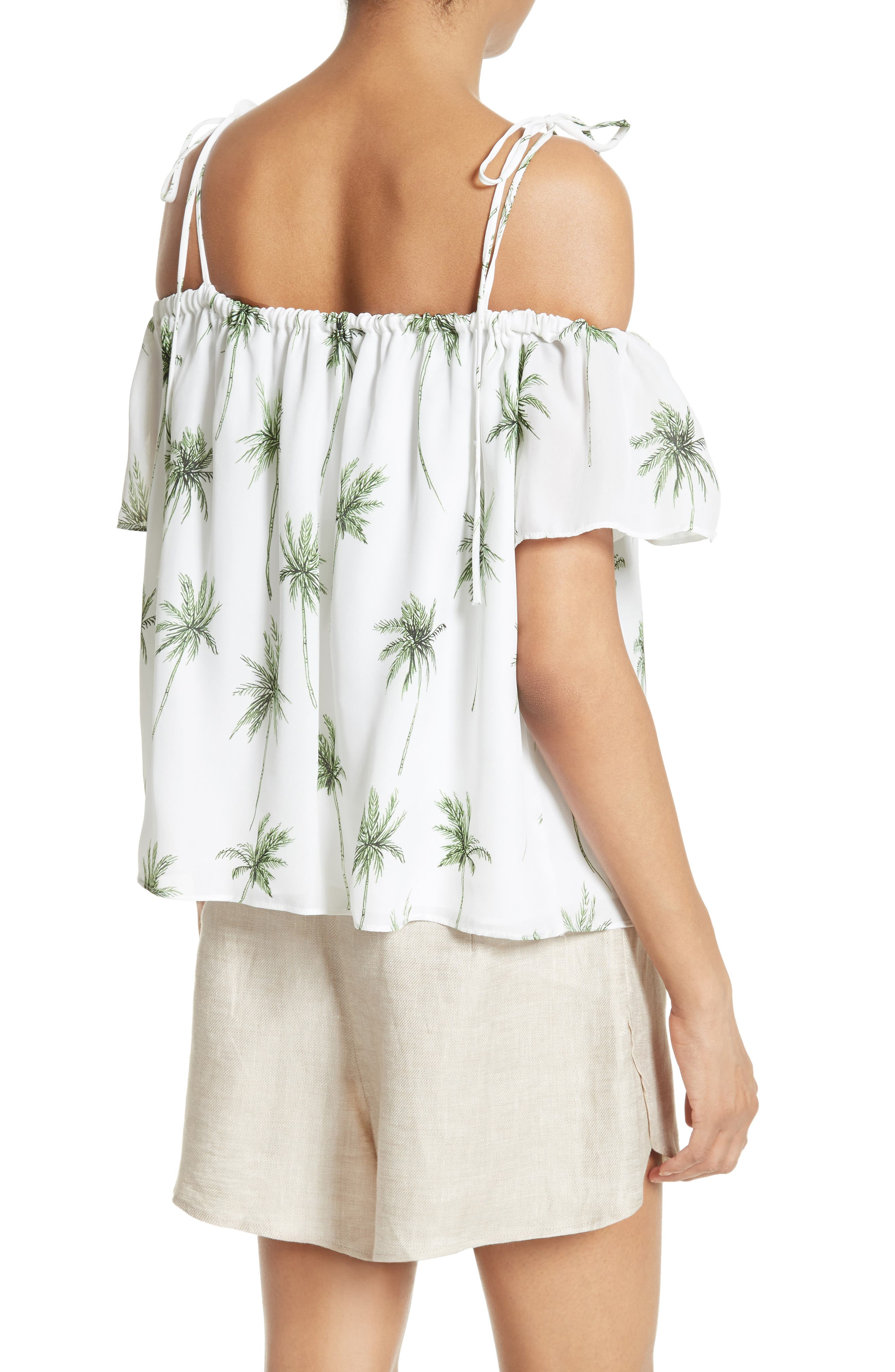Alternate Image 2  - Milly Eden Palm Tree Print Top