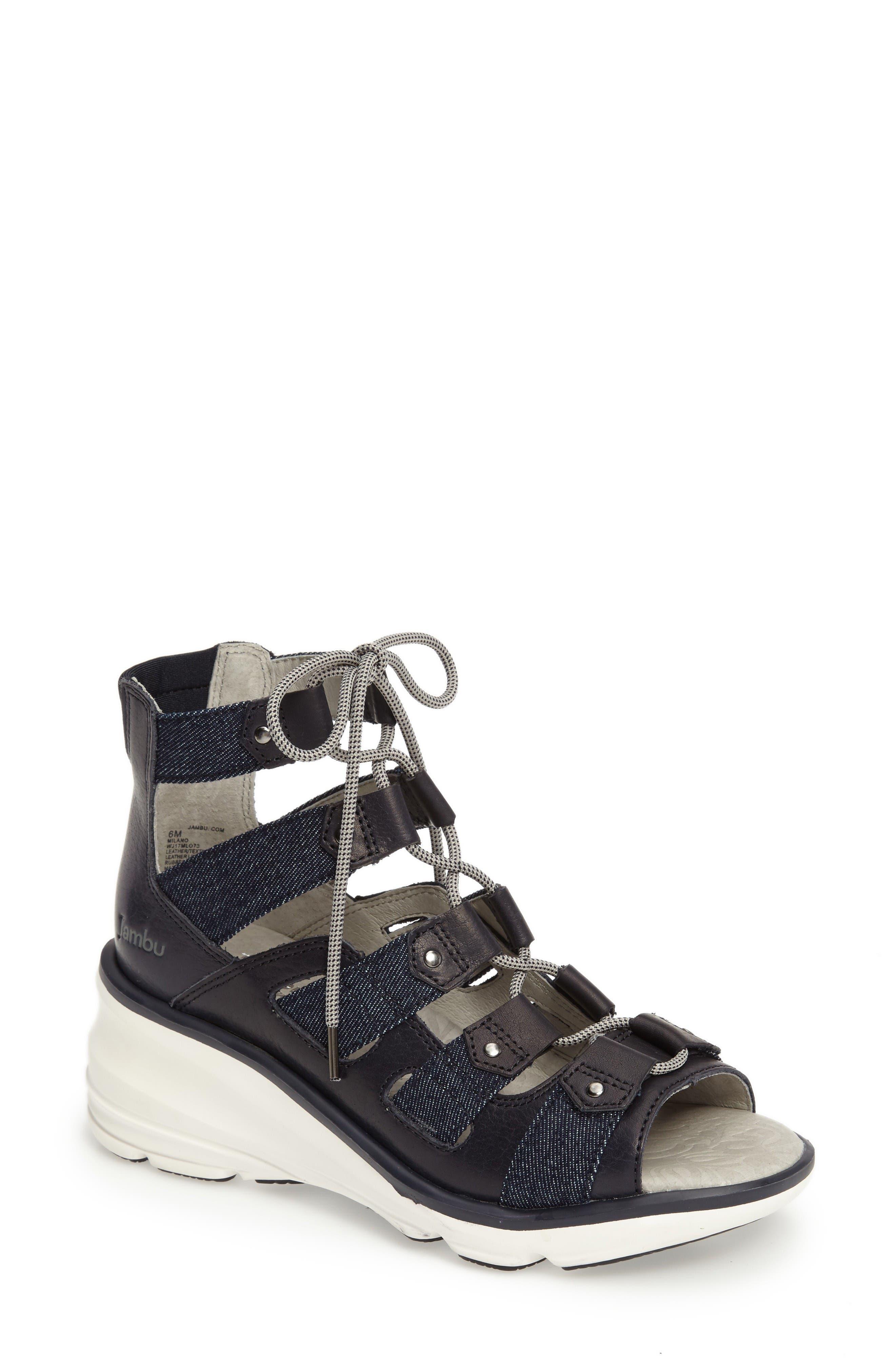 Jambu Milano High-Top Wedge Sandal (Women)