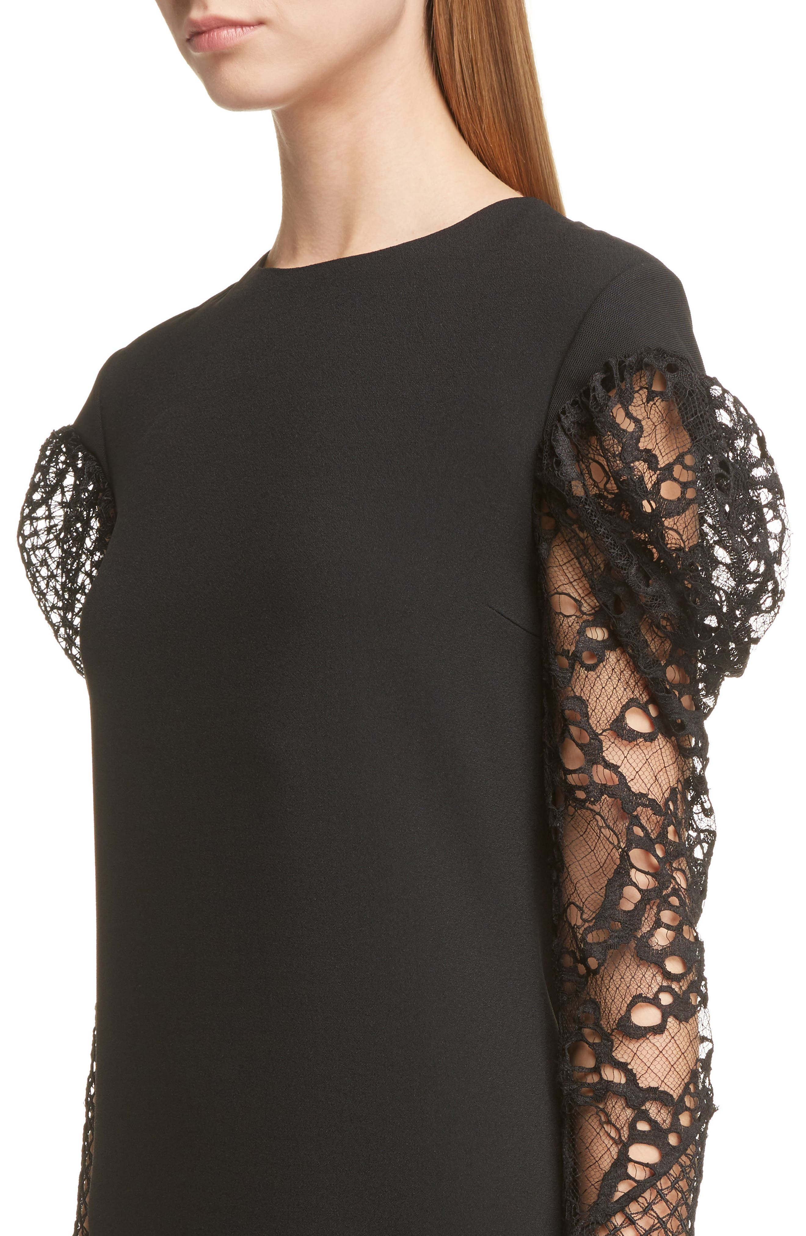 Alternate Image 5  - Saint Laurent Lace Balloon Sleeve Dress