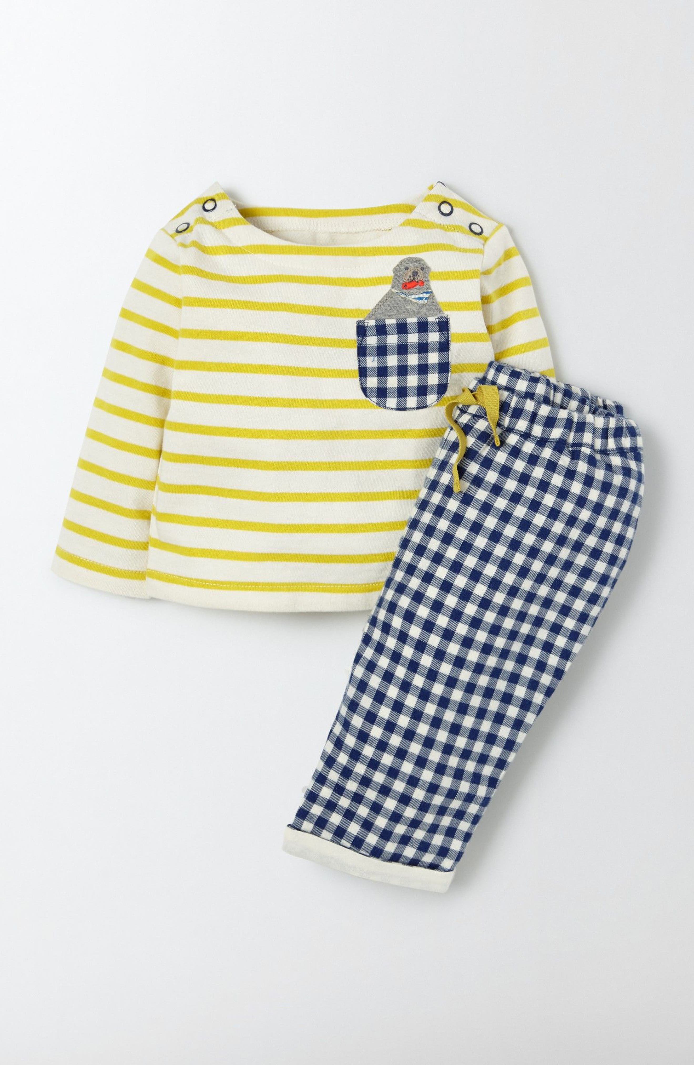MINI BODEN Fun Shirt & Pants Set