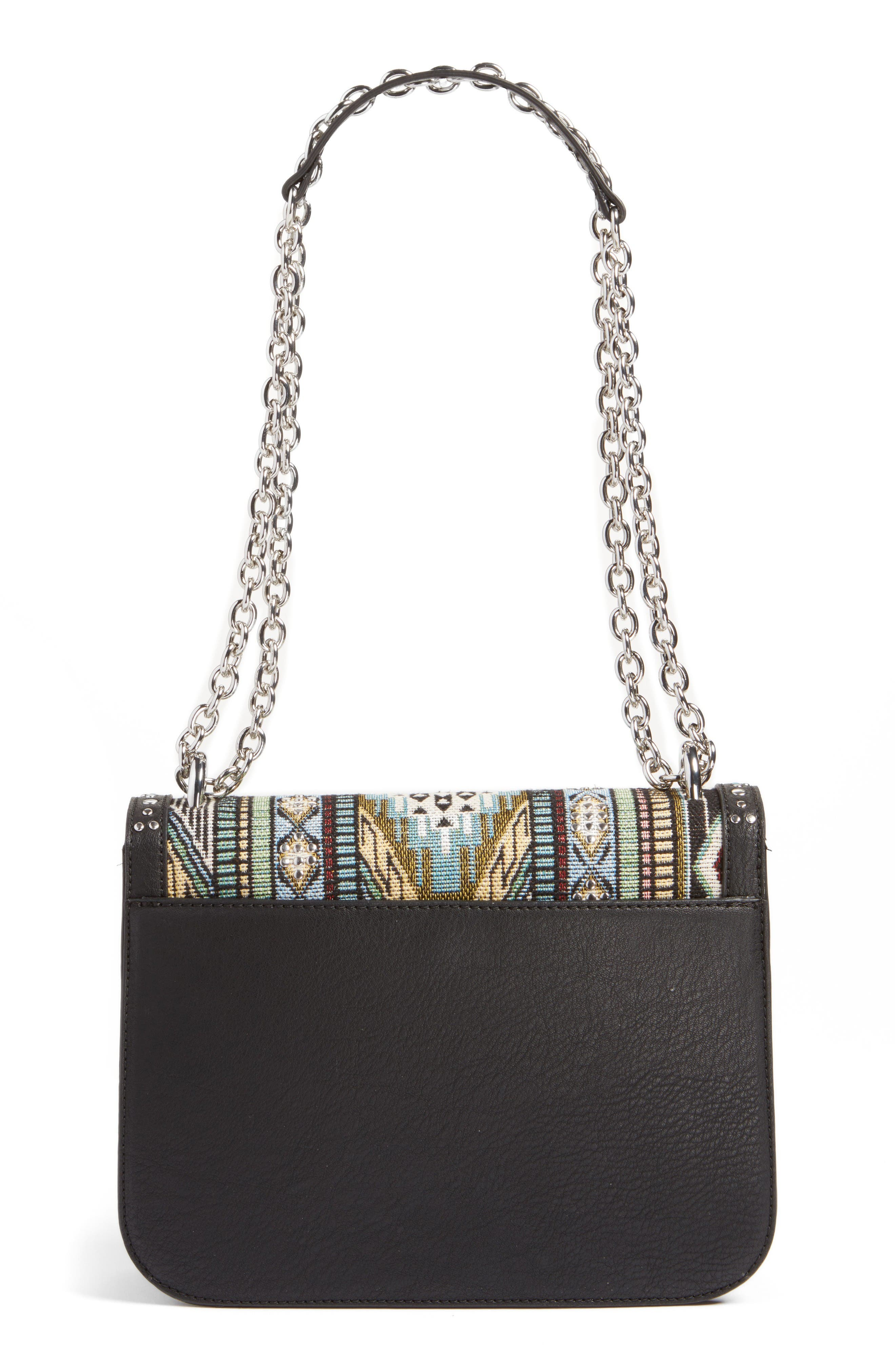 Alternate Image 3  - Chelsea28 Dahlia Embroidered Faux Leather Crossbody Bag