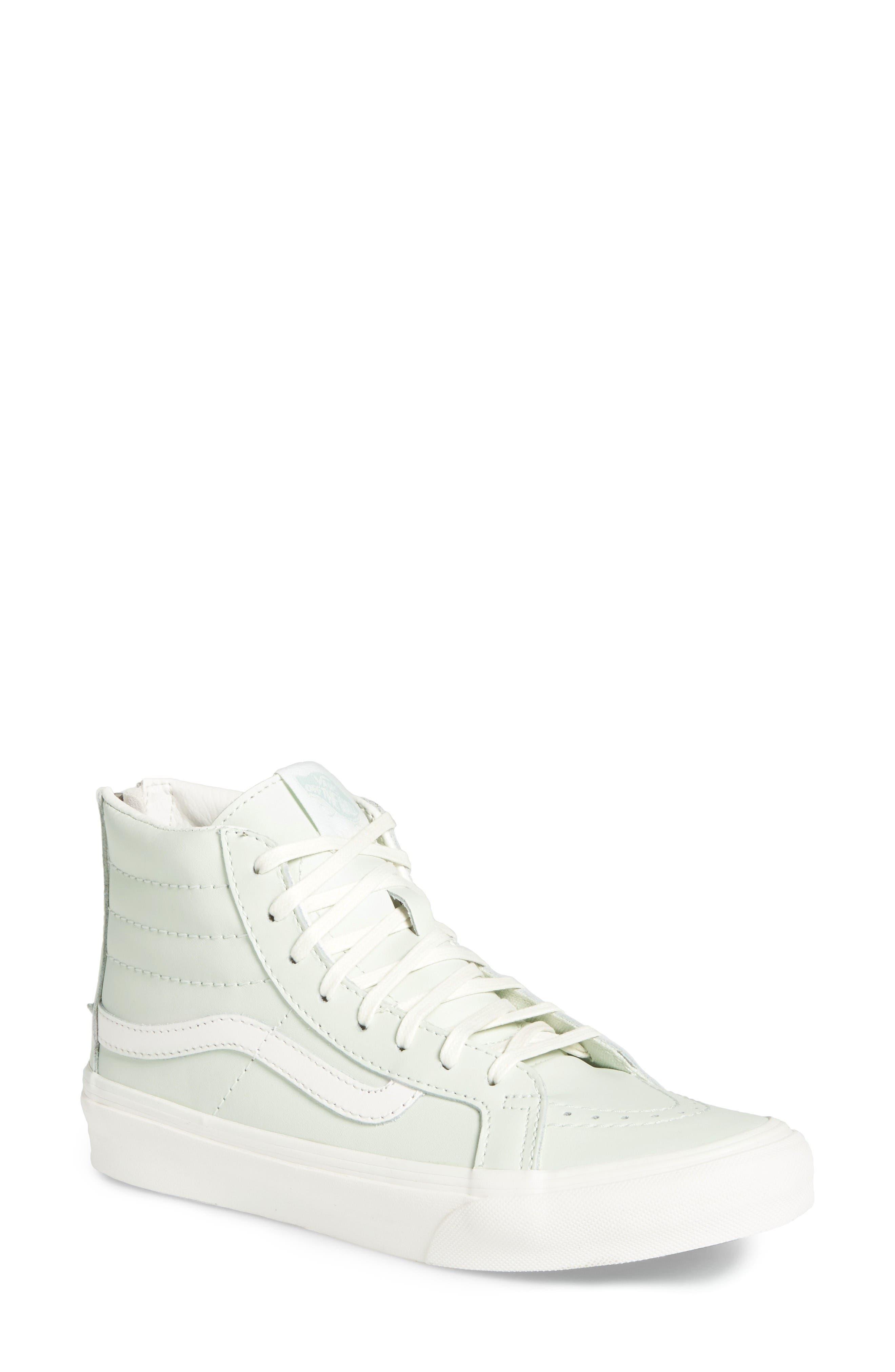 Alternate Image 1 Selected - Vans 'Sk8-Hi' Slim Zip Sneaker (Women)