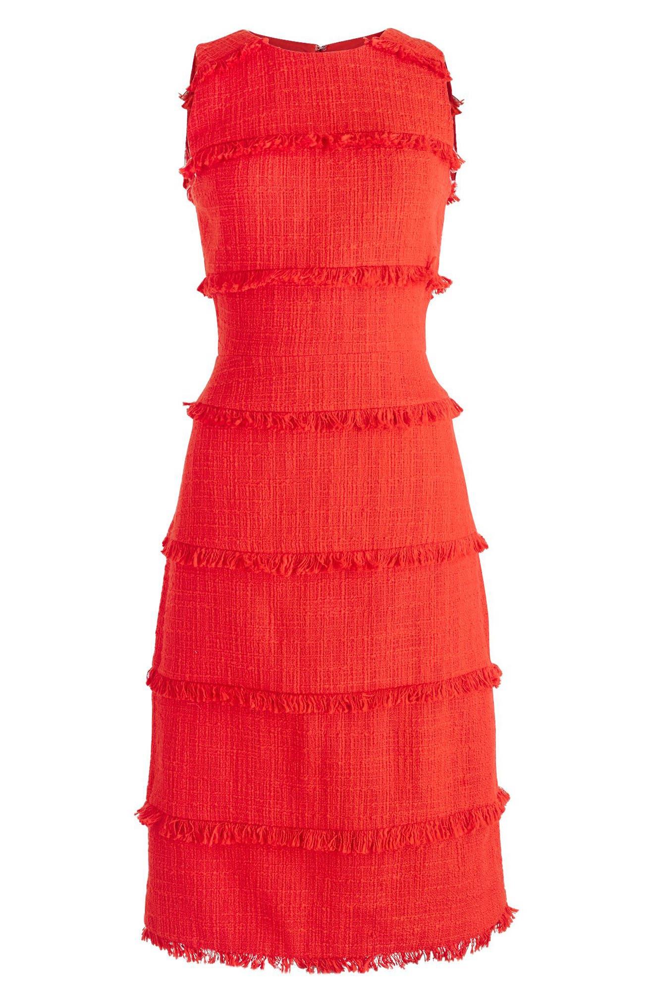 Alternate Image 2  - J.Crew Tweed Sheath Dress (Regular & Petite)