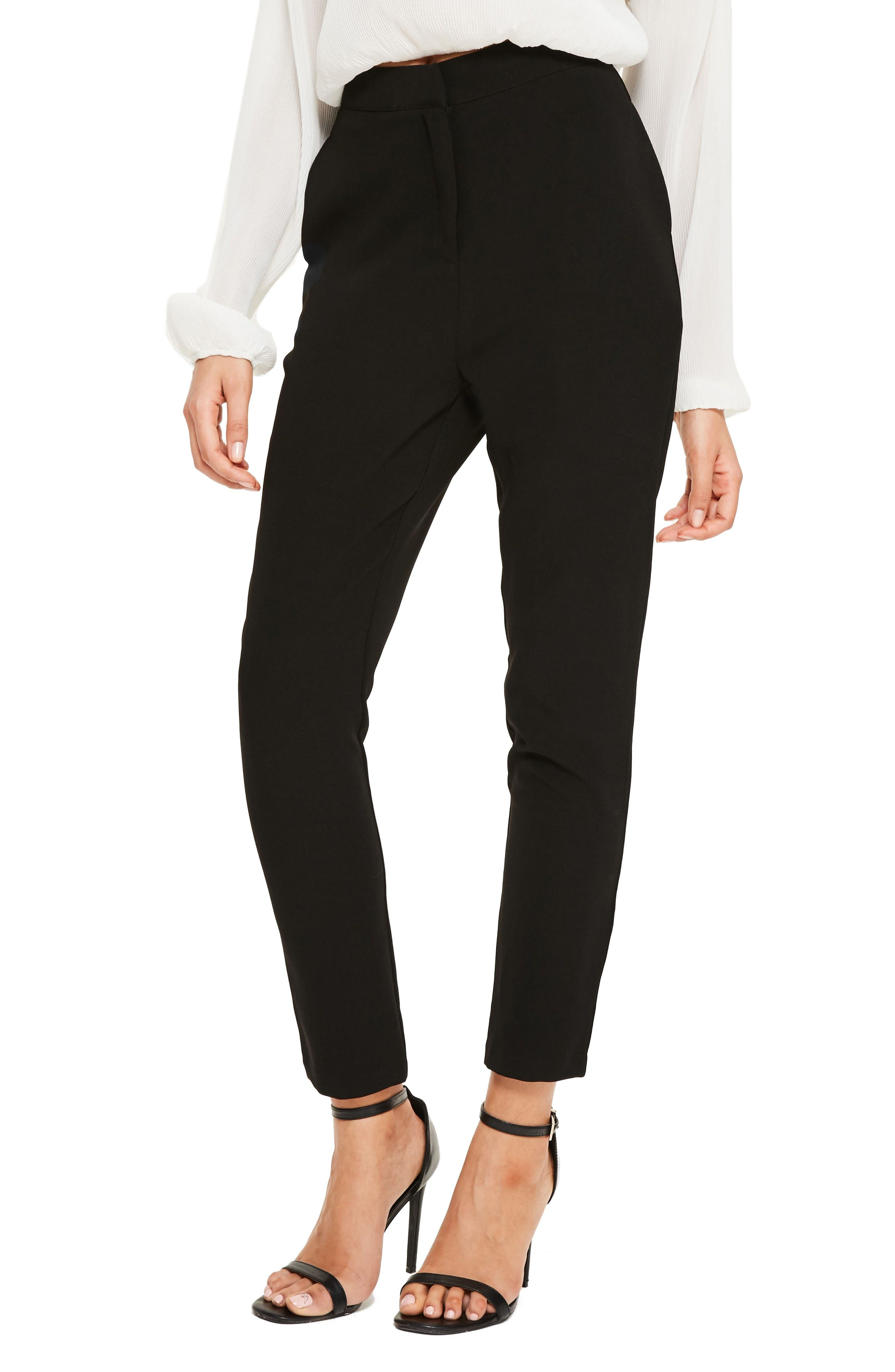 Main Image - Missguided High Waist Cigarette Trousers