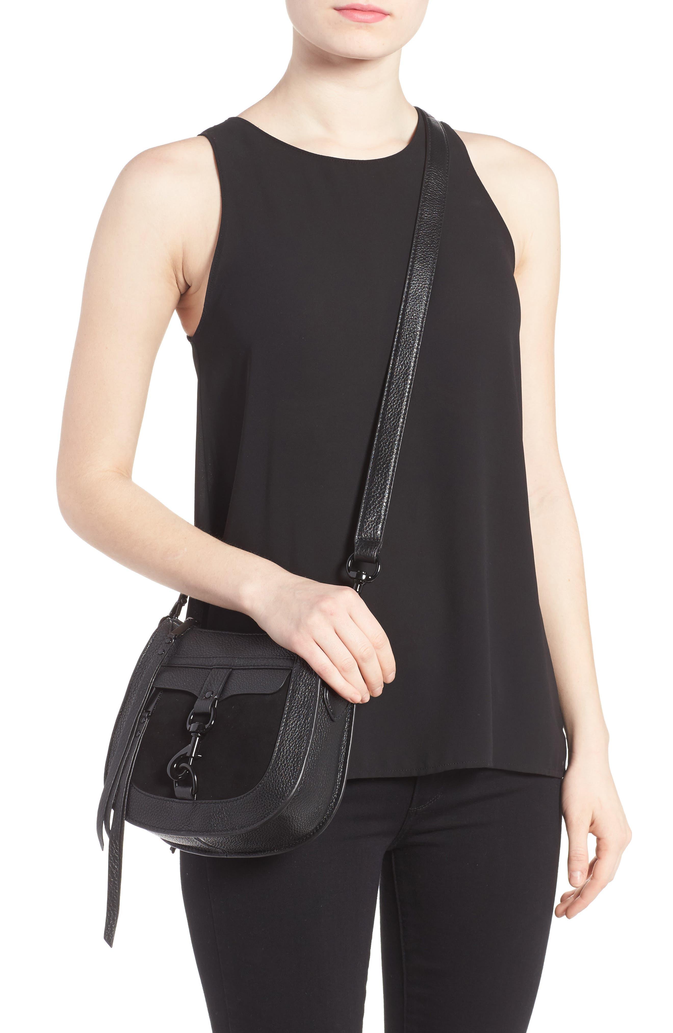 Alternate Image 2  - Rebecca Minkoff Dog Clip Leather & Suede Saddle Bag (Nordstrom Exclusive)