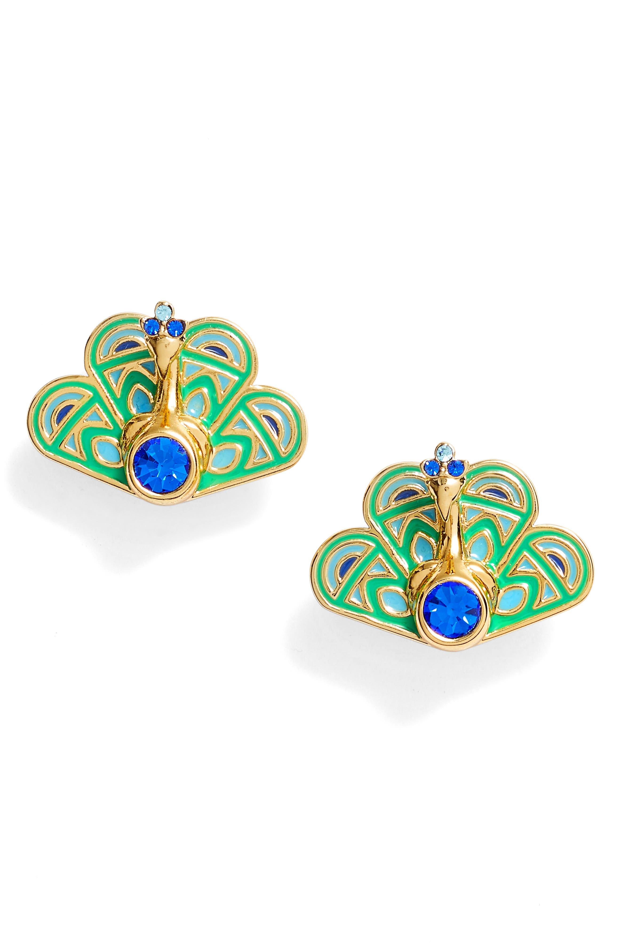 Alternate Image 1 Selected - kate spade new york full plume stud earrings