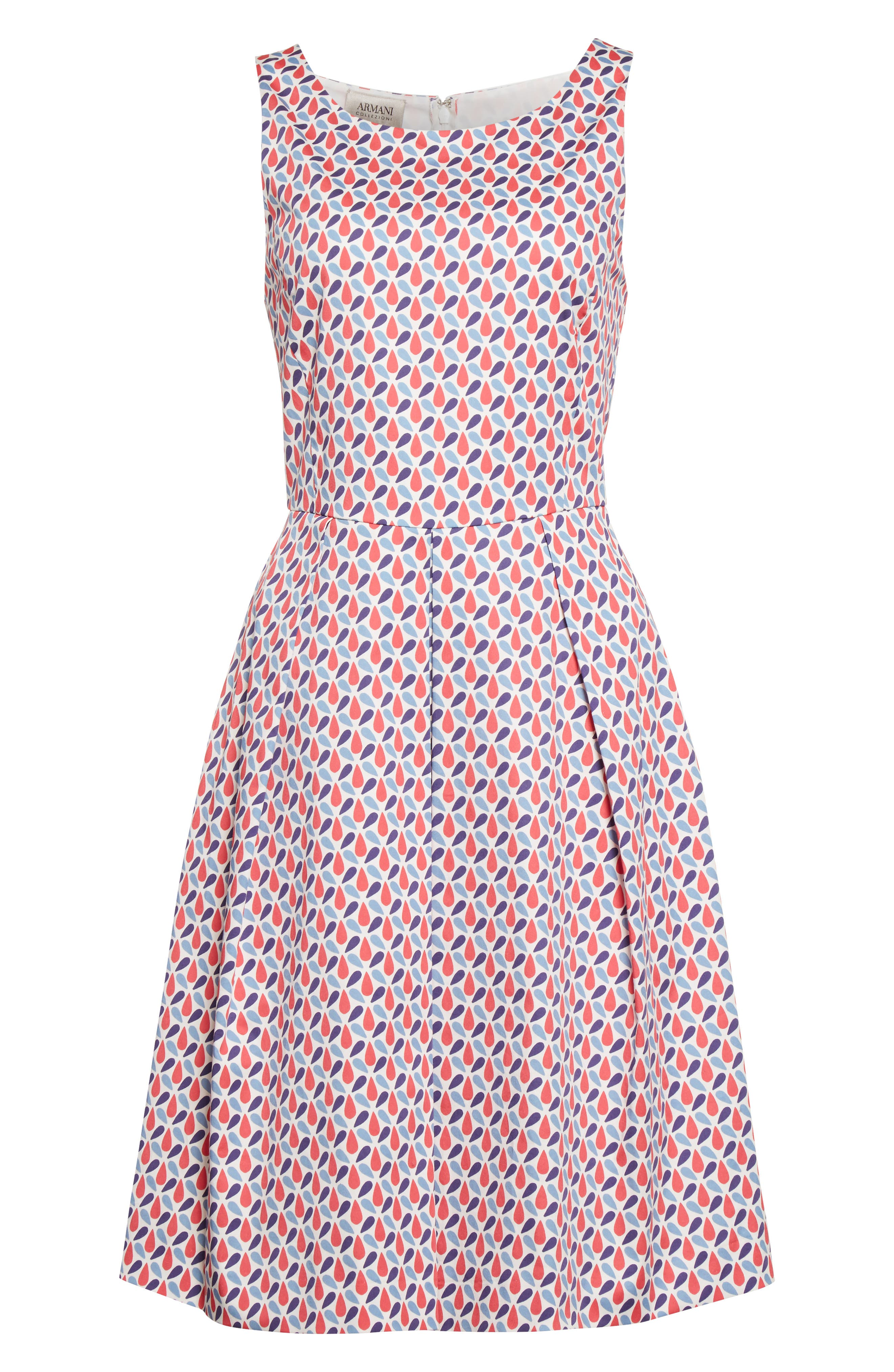 Alternate Image 4  - Armani Collezioni Print Cotton Fit & Flair Dress