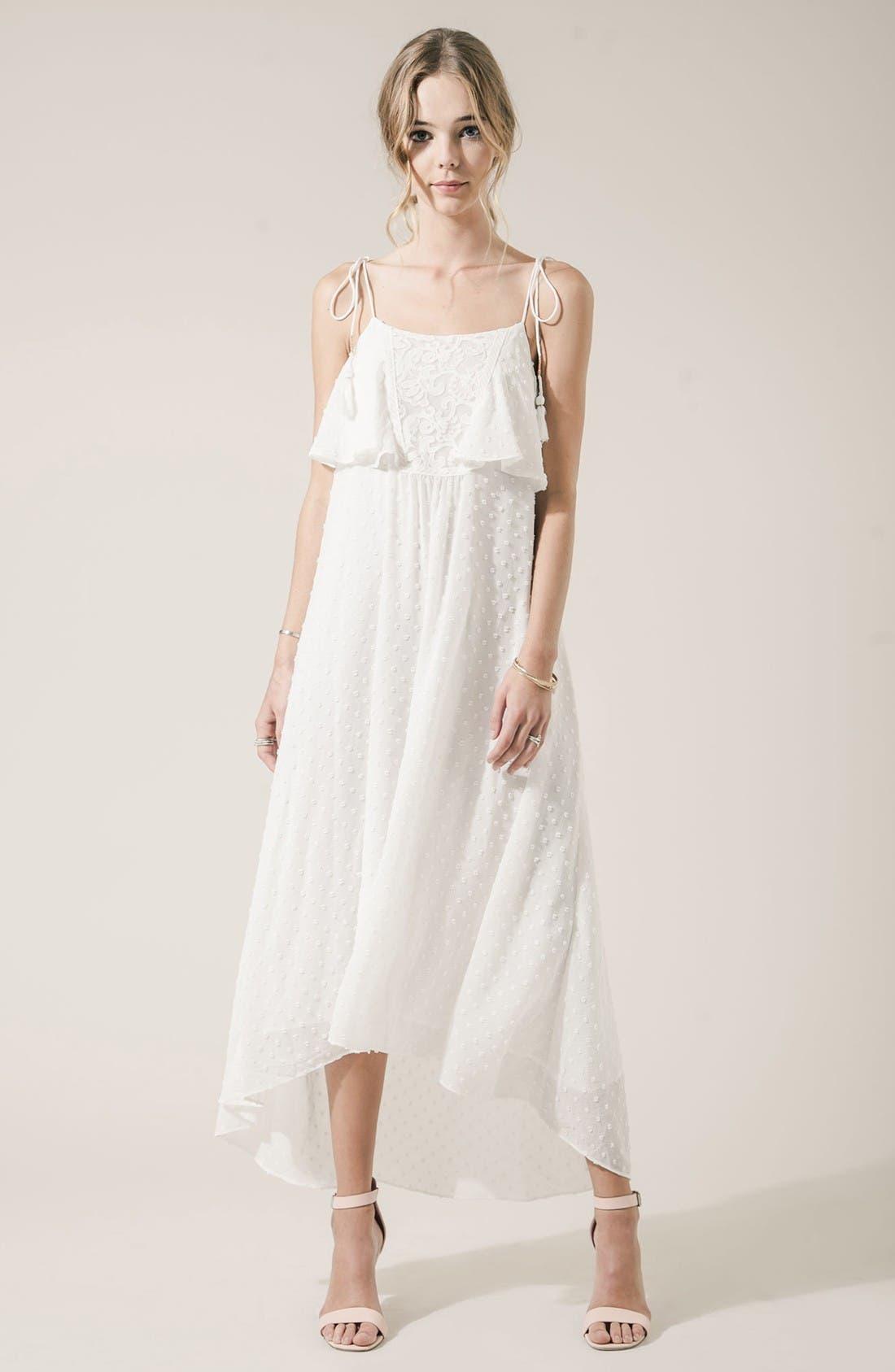 Alternate Image 2  - MOON RIVER Swiss Dot Maxi Dress