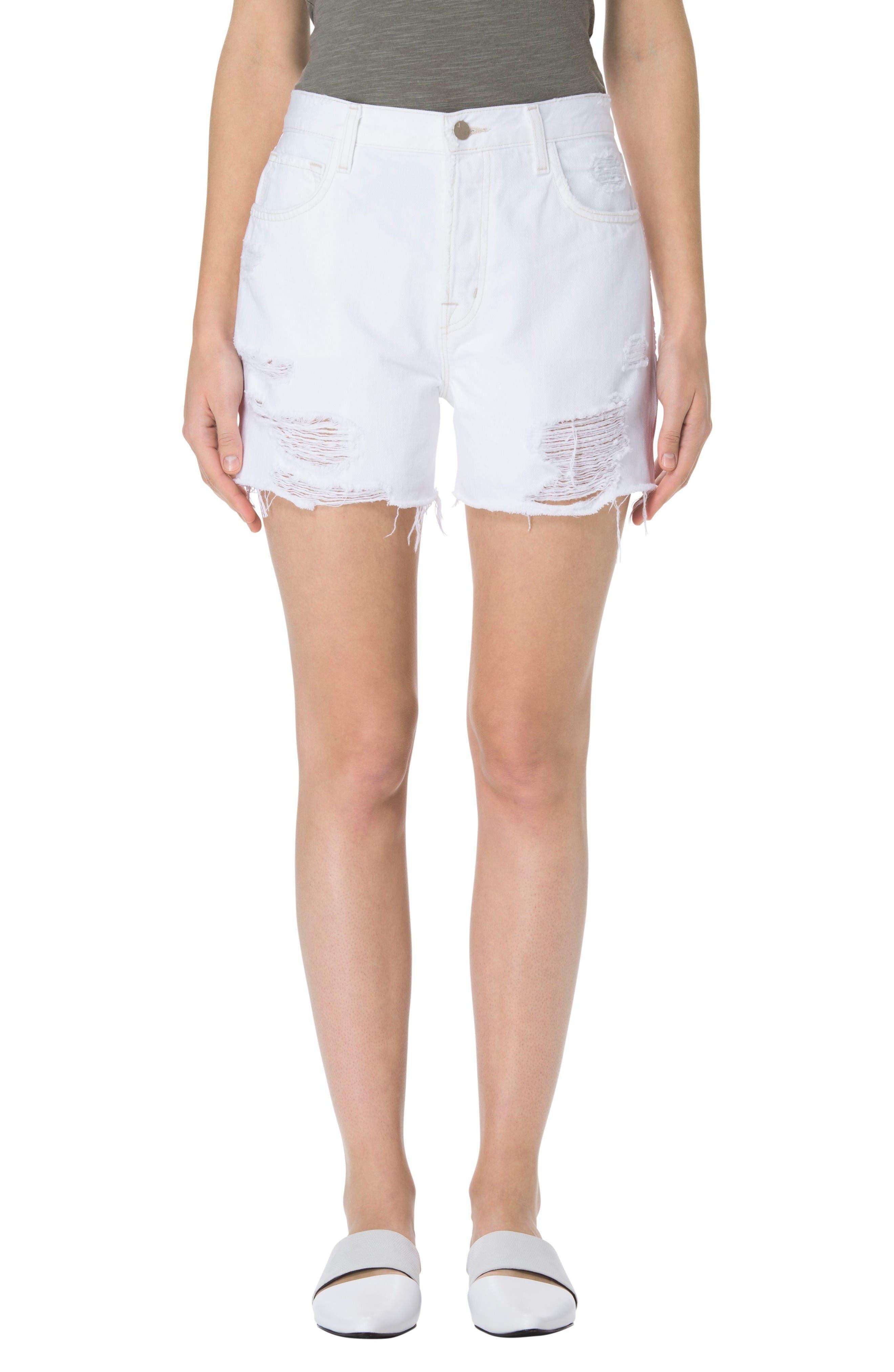 J Brand Ivy High Waist Denim Shorts (Distract)