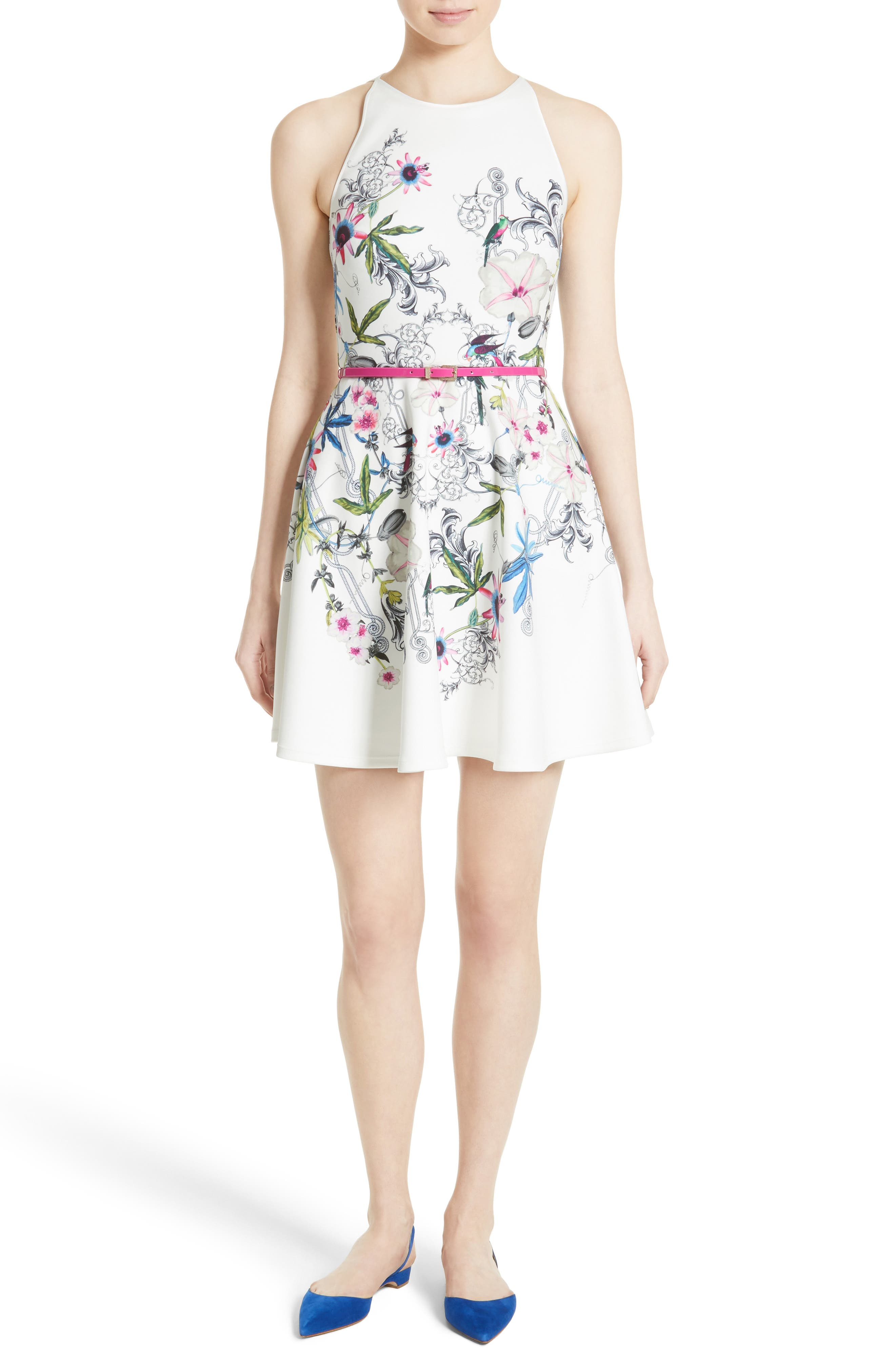 Alternate Image 1 Selected - Ted Baker London Samm Floral Fit & Flare Dress