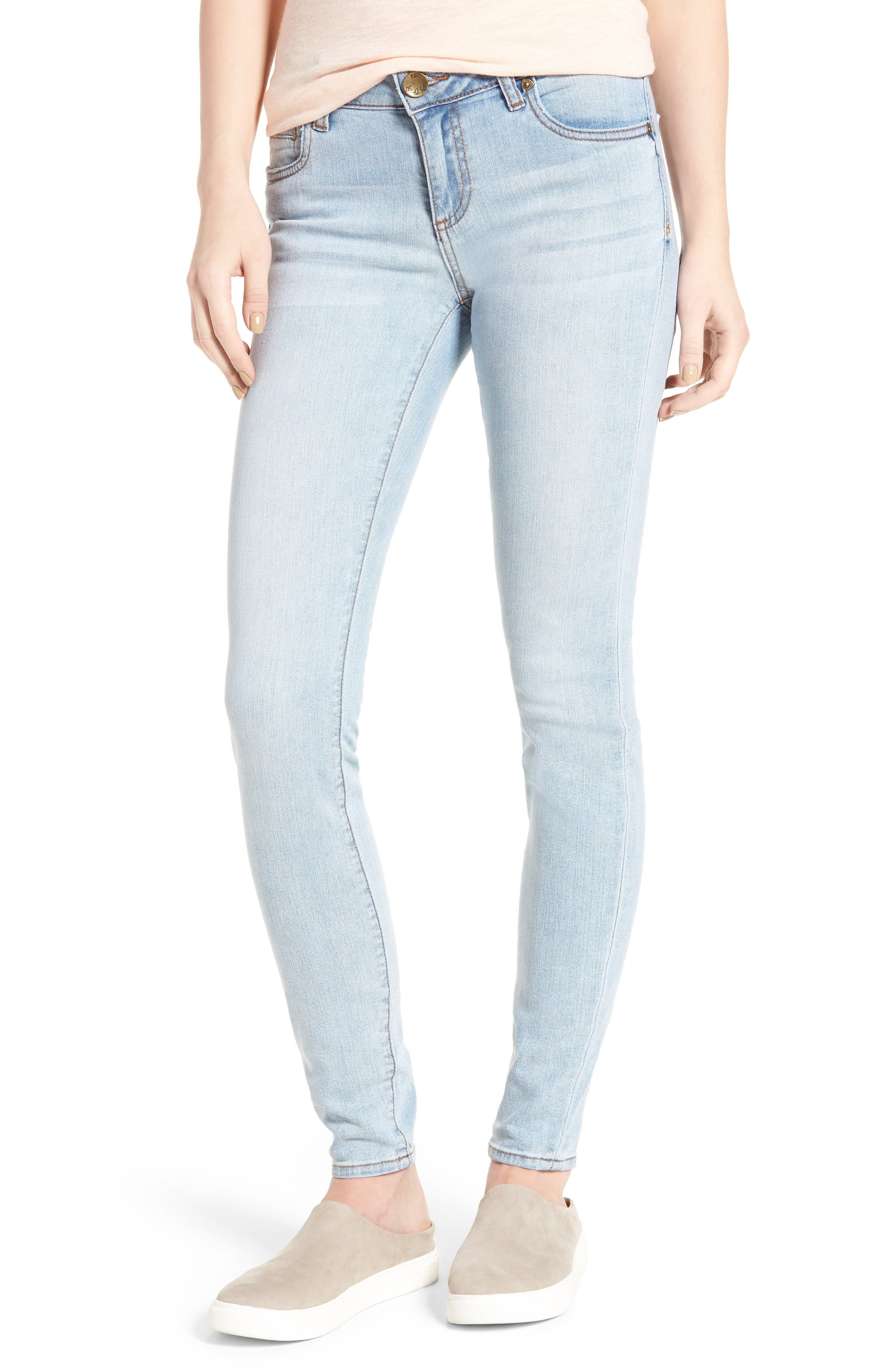 Alternate Image 1 Selected - KUT from the Kloth Mia Toothpick Skinny Jeans (Expectation)