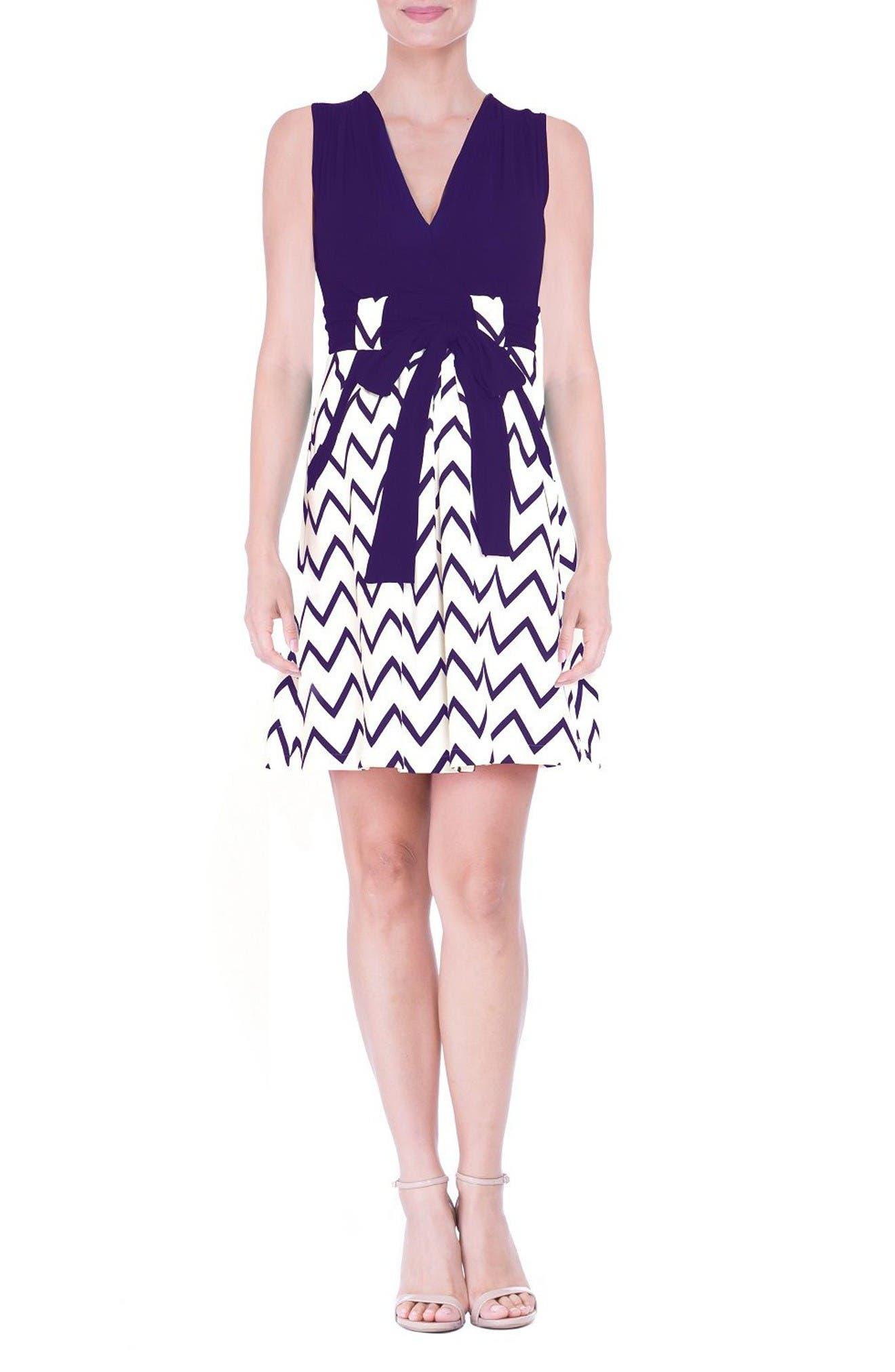 OLIAN Chevron Print Maternity Dress
