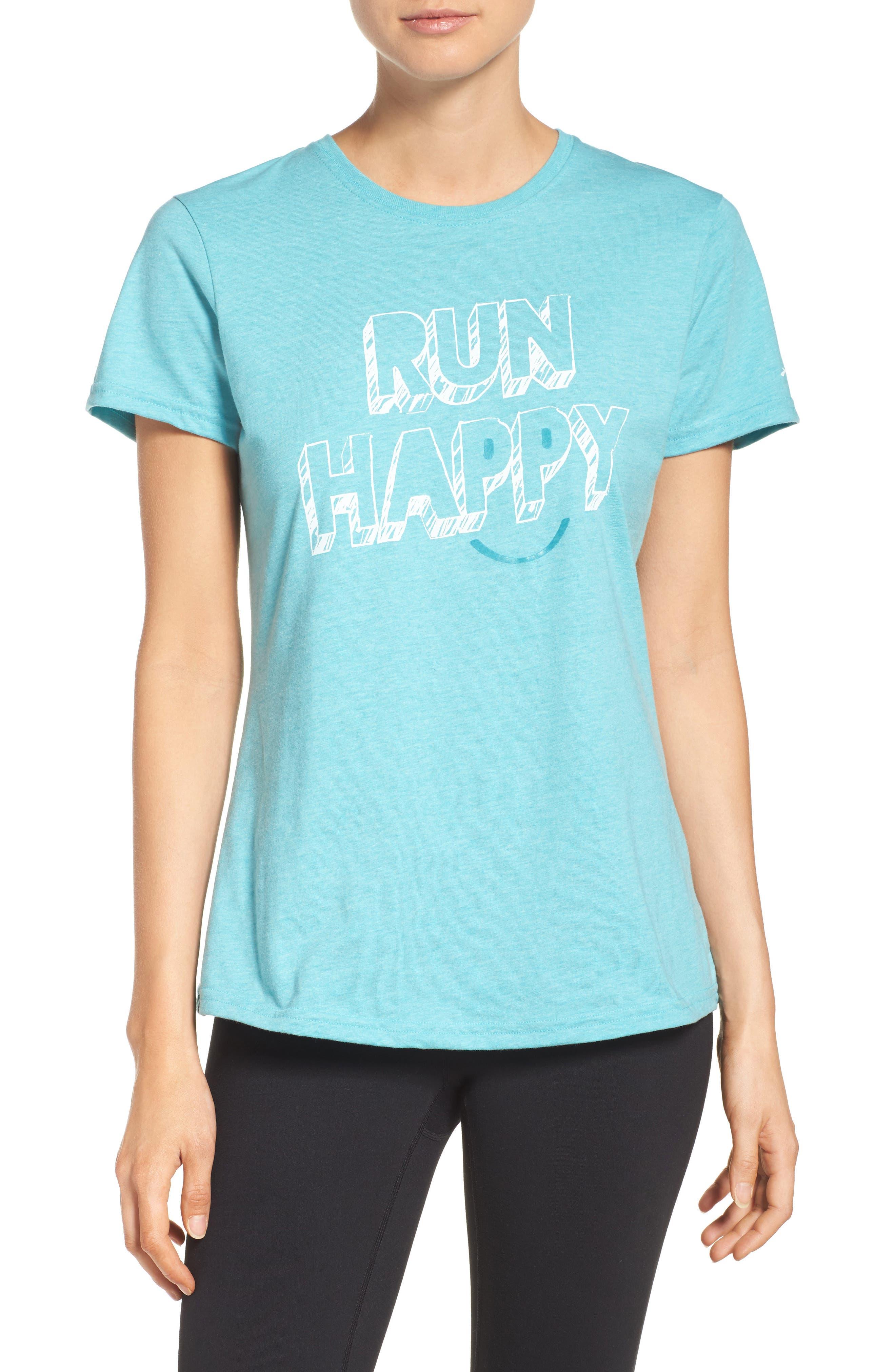 Brooks 'Run Happy' Smile Graphic Tee