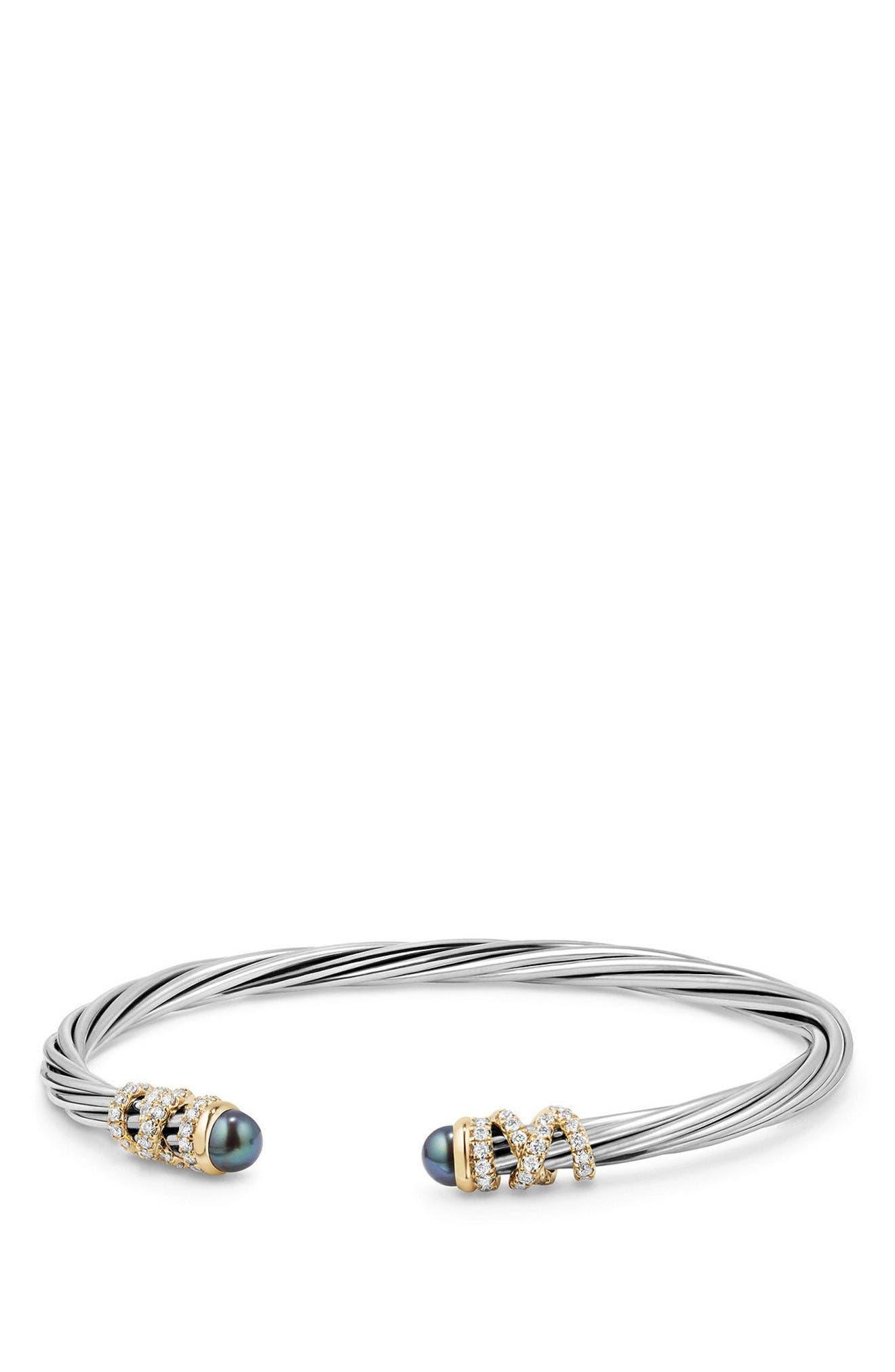 DAVID YURMAN Helena End Station Bracelet with Pearls