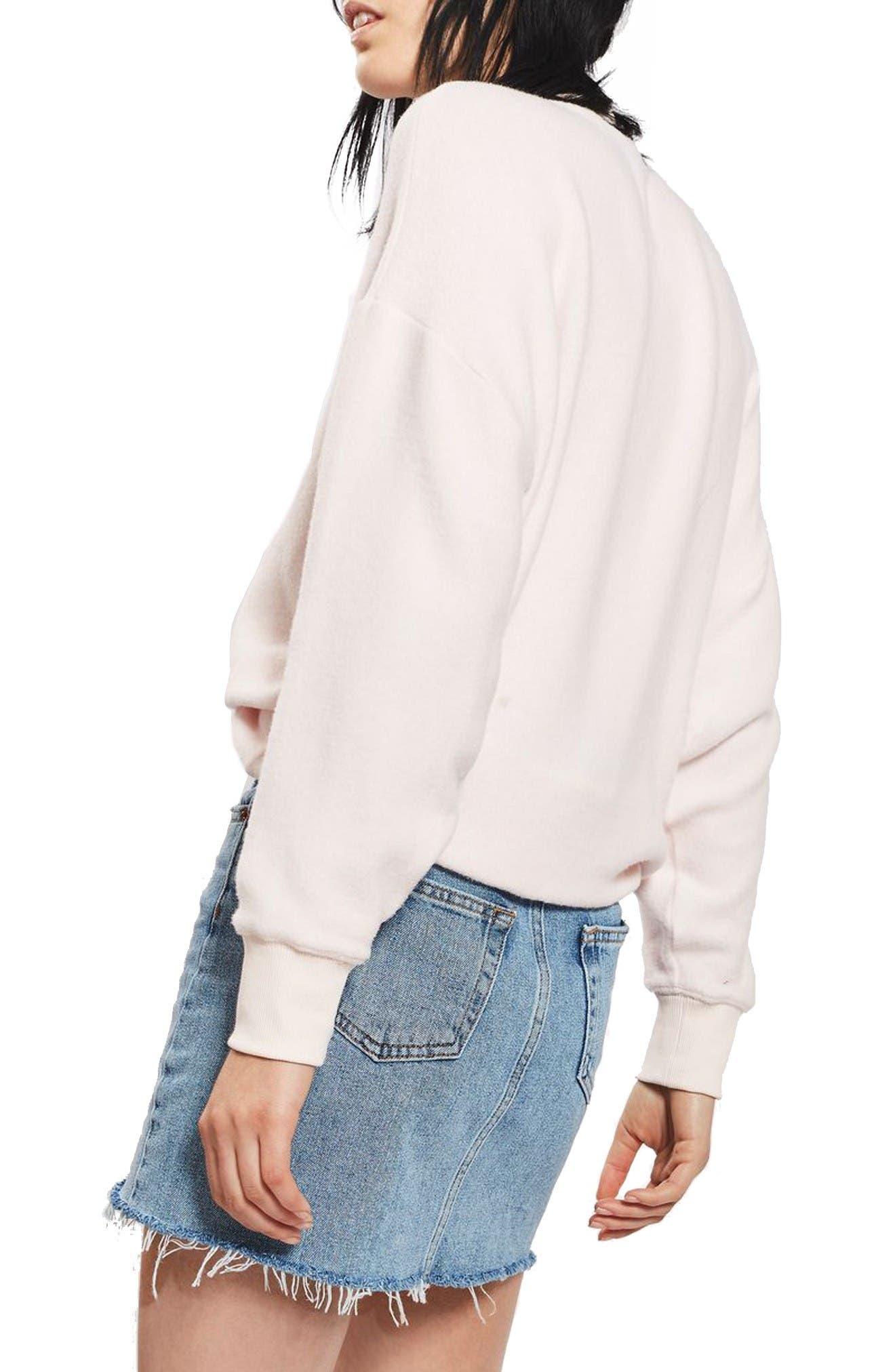 Alternate Image 2  - Topshop Denim Miniskirt