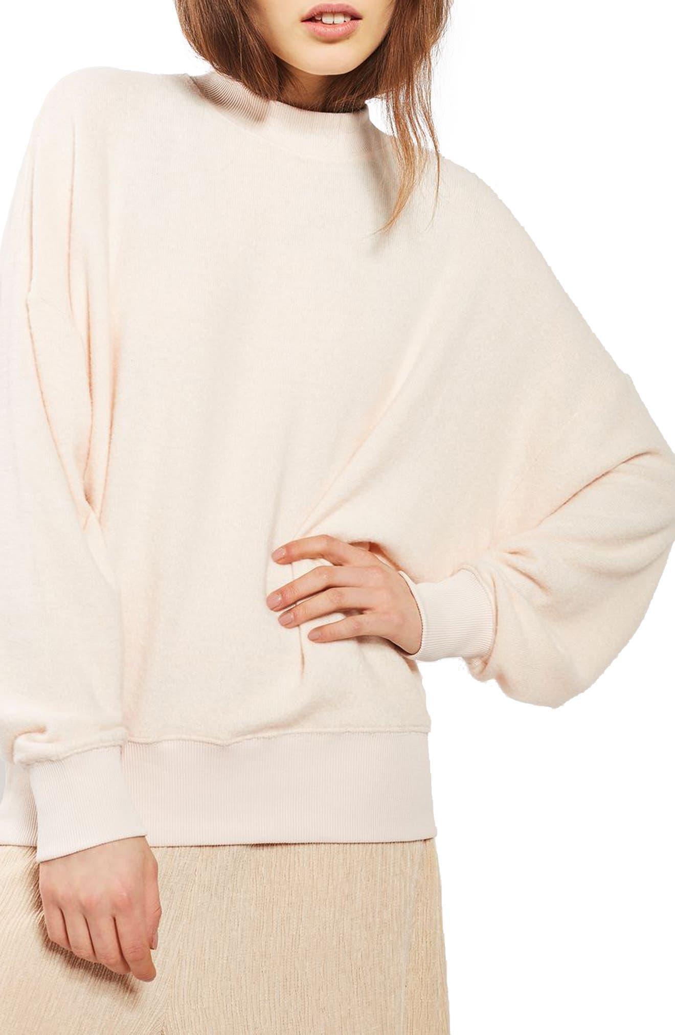 TOPSHOP Brushed Batwing Sweatshirt