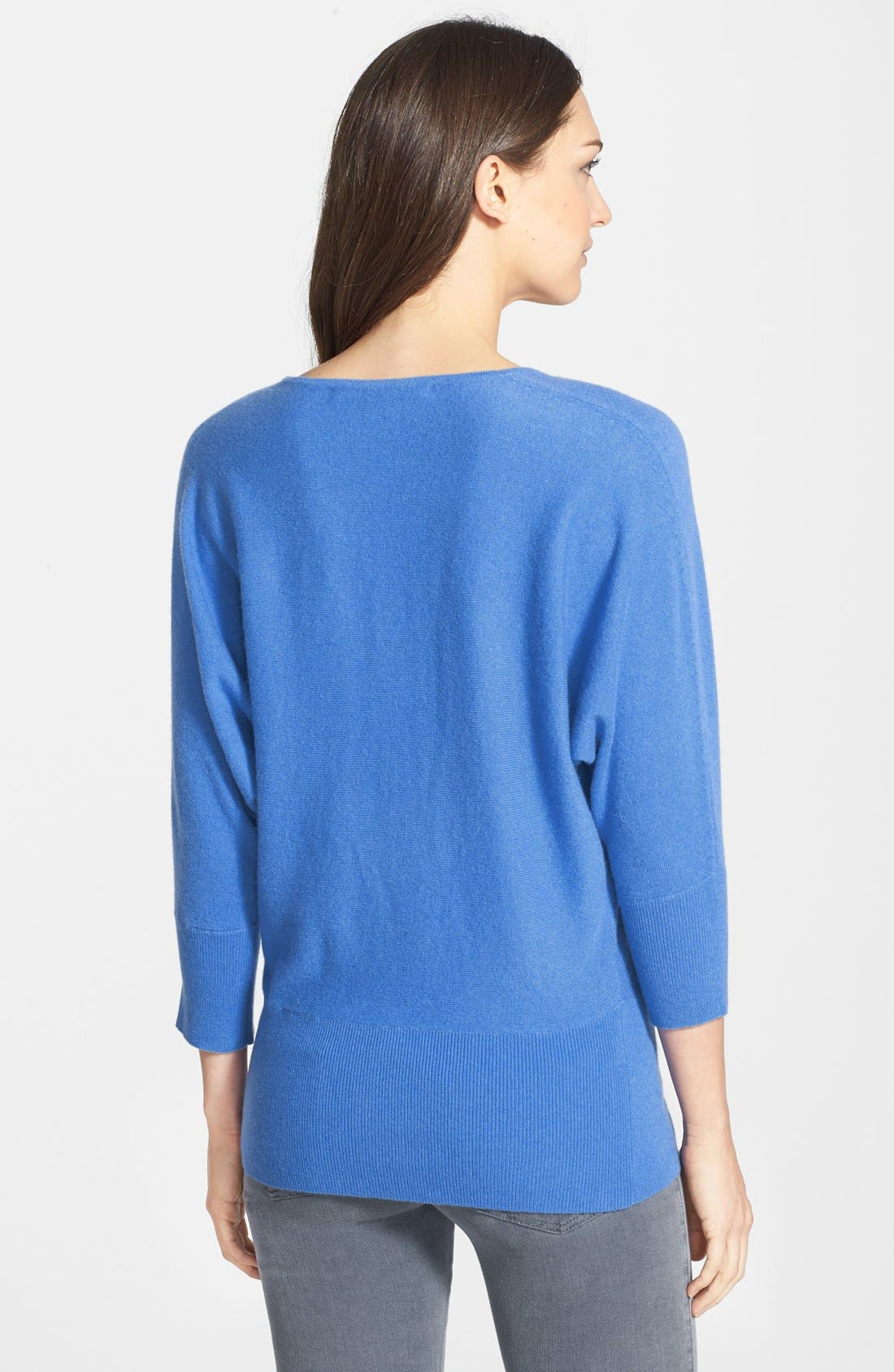 Alternate Image 2  - Nordstrom Collection V-Neck Cashmere Sweater
