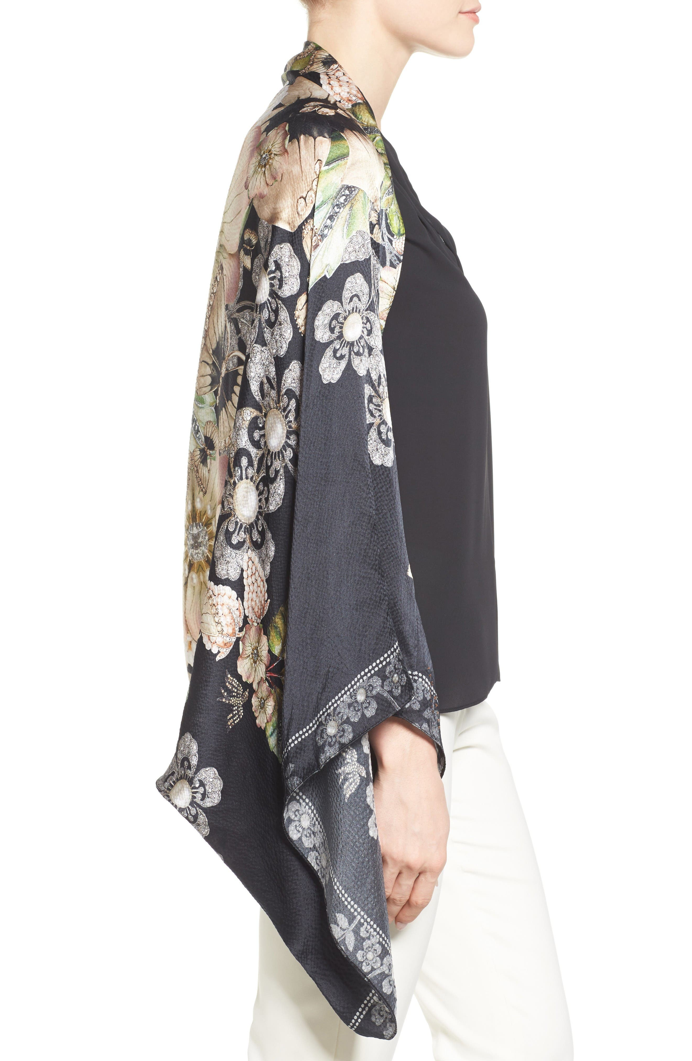 Alternate Image 3  - Ted Baker London Gem Gardens Cape Scarf