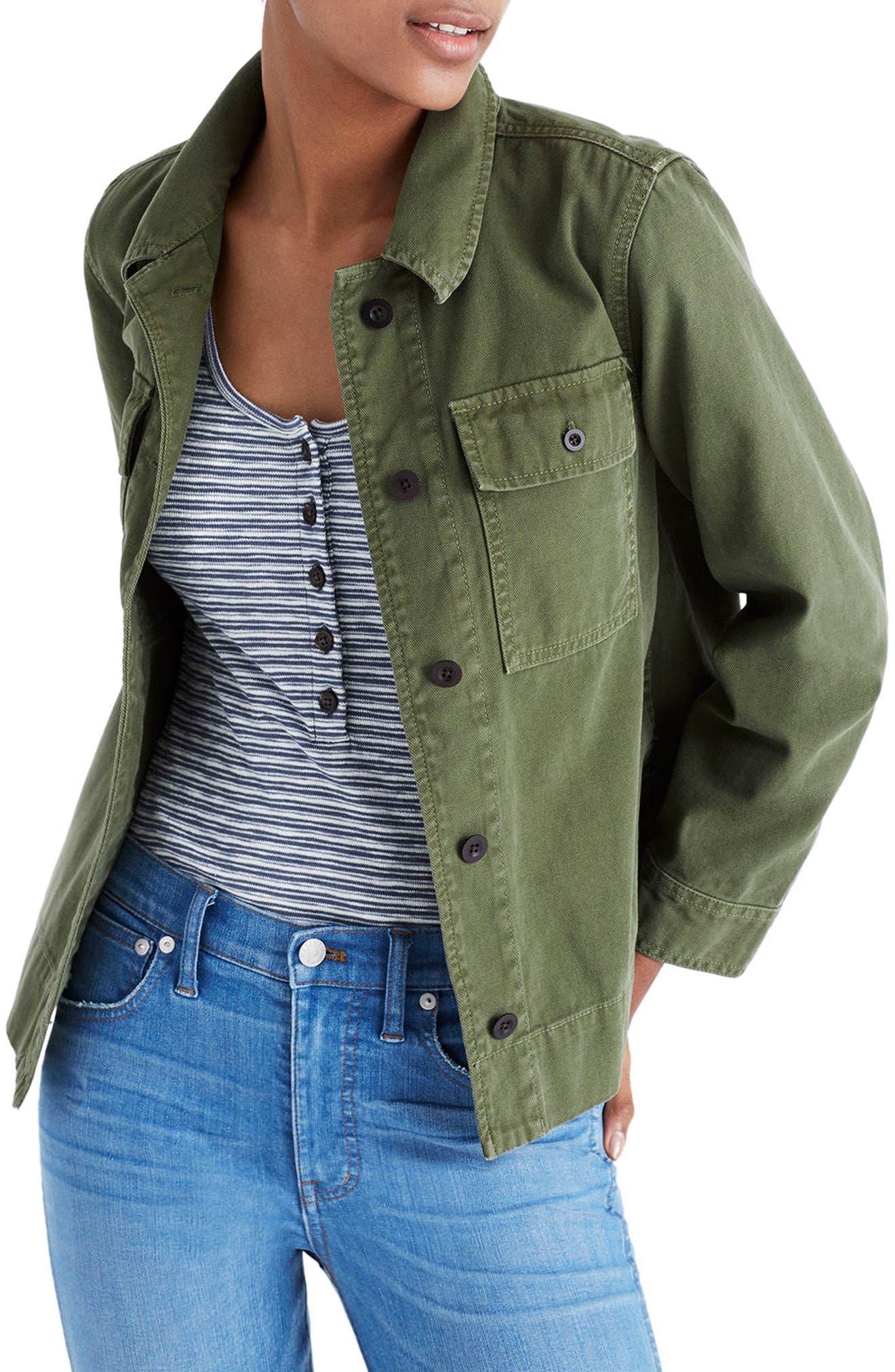 Madewell Northward Crop Army Jacket