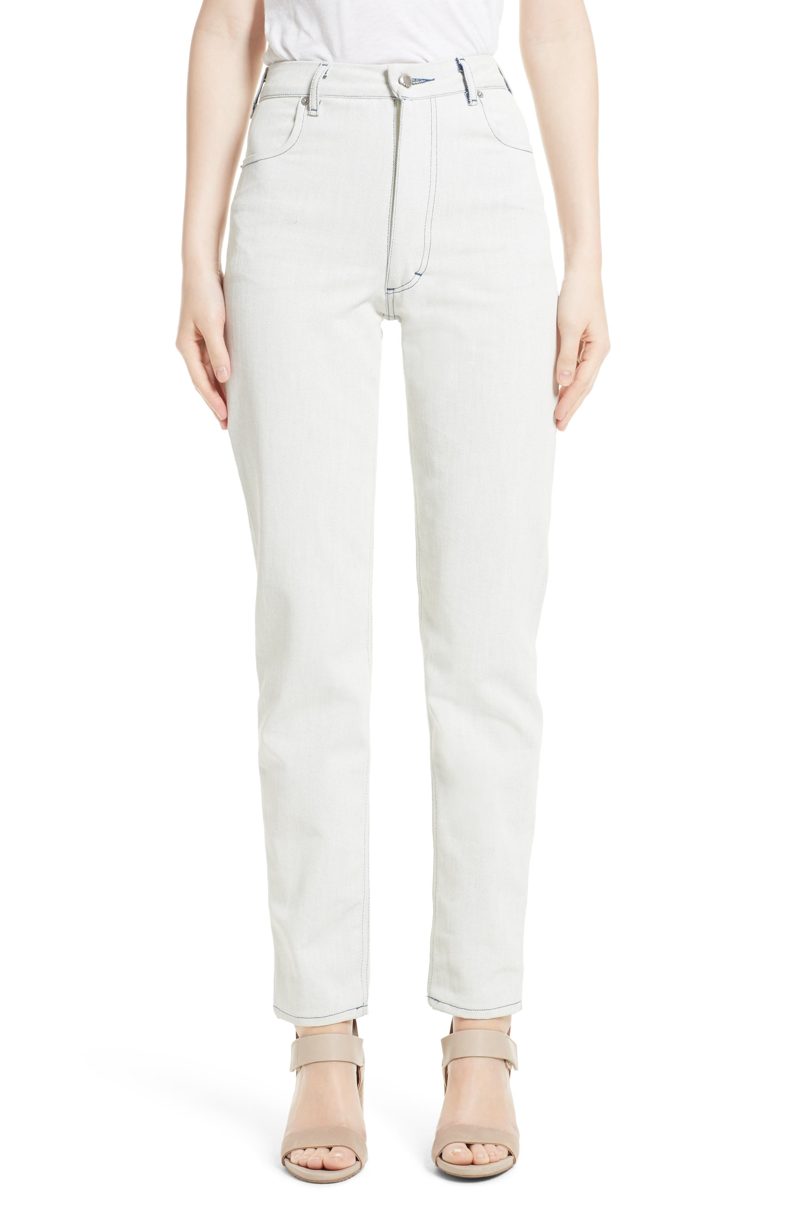 ECKHAUS LATTA High Waist Crop Jeans
