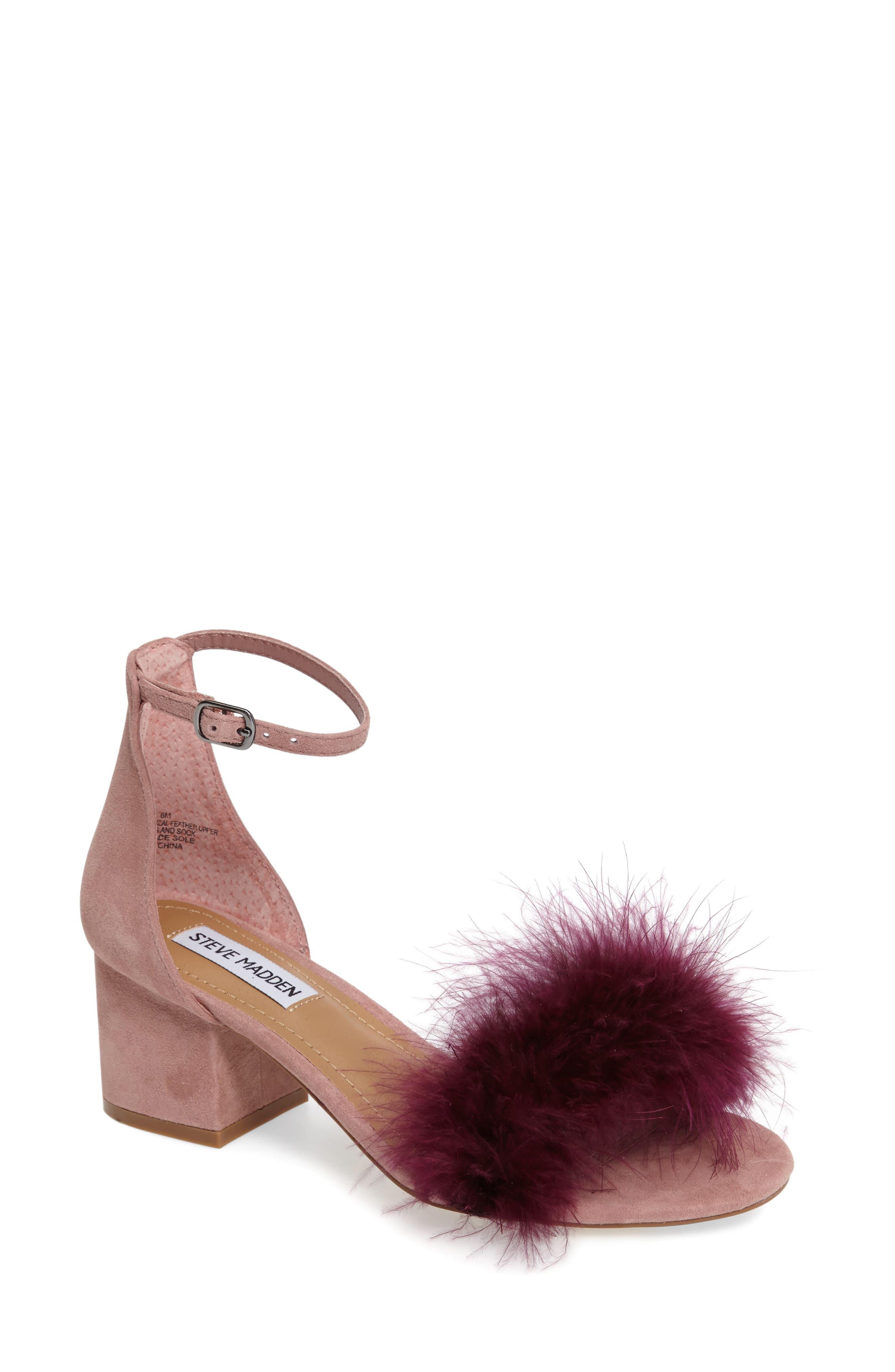 STEVE MADDEN Imelda Marabou Sandal