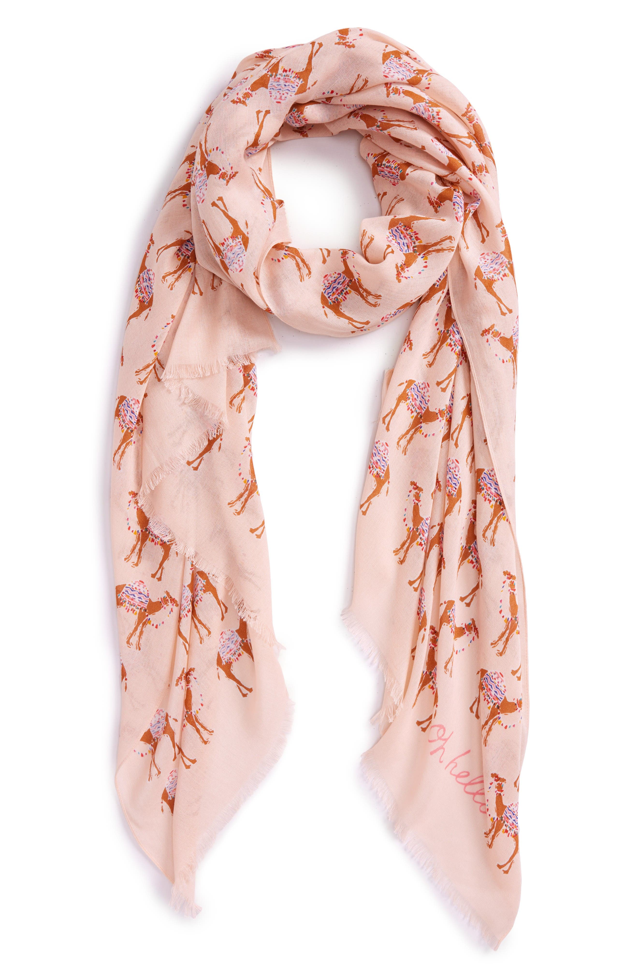KATE SPADE NEW YORK camel march scarf