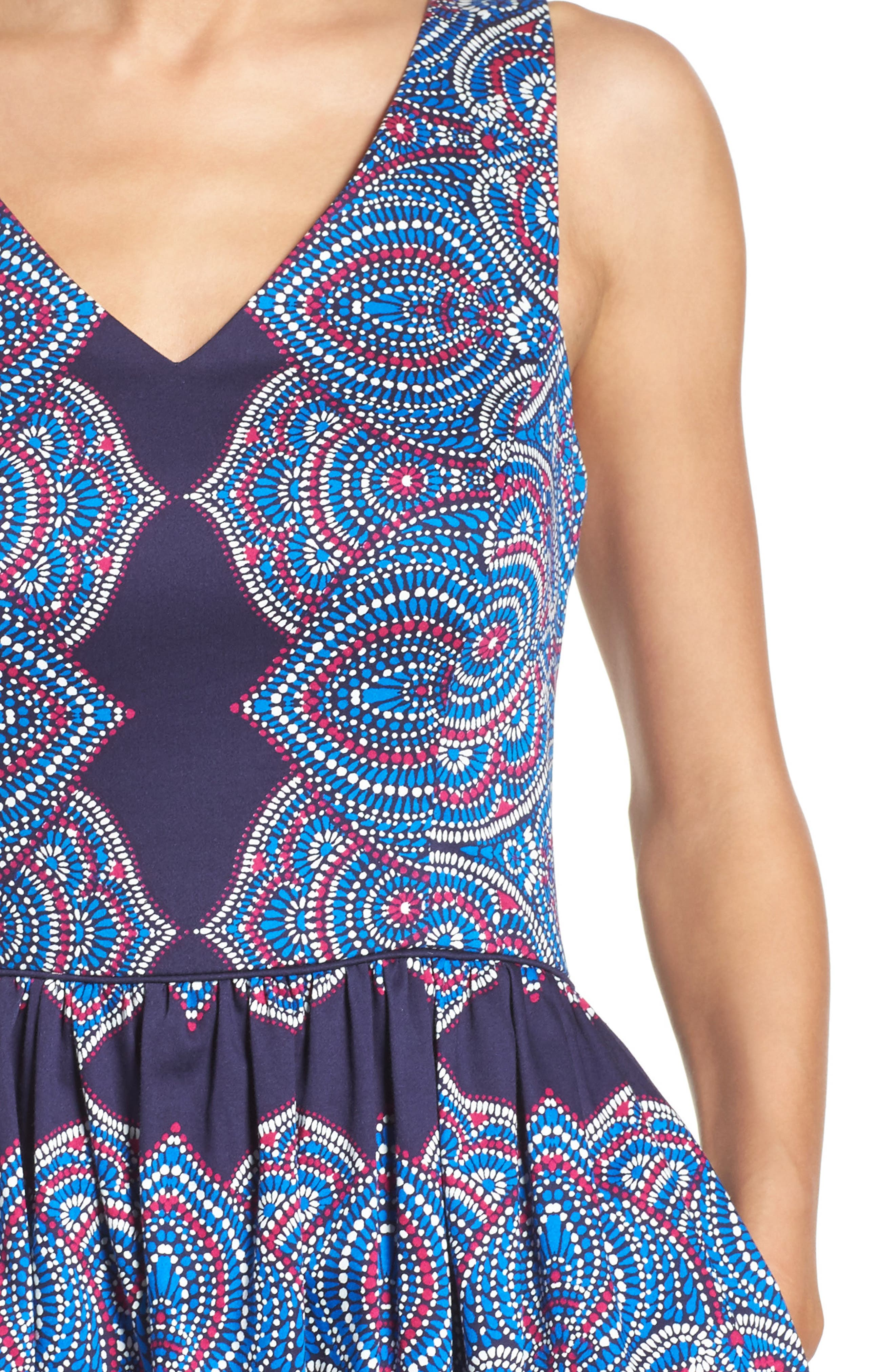 Alternate Image 5  - Maggy London Print Fit & Flare Dress
