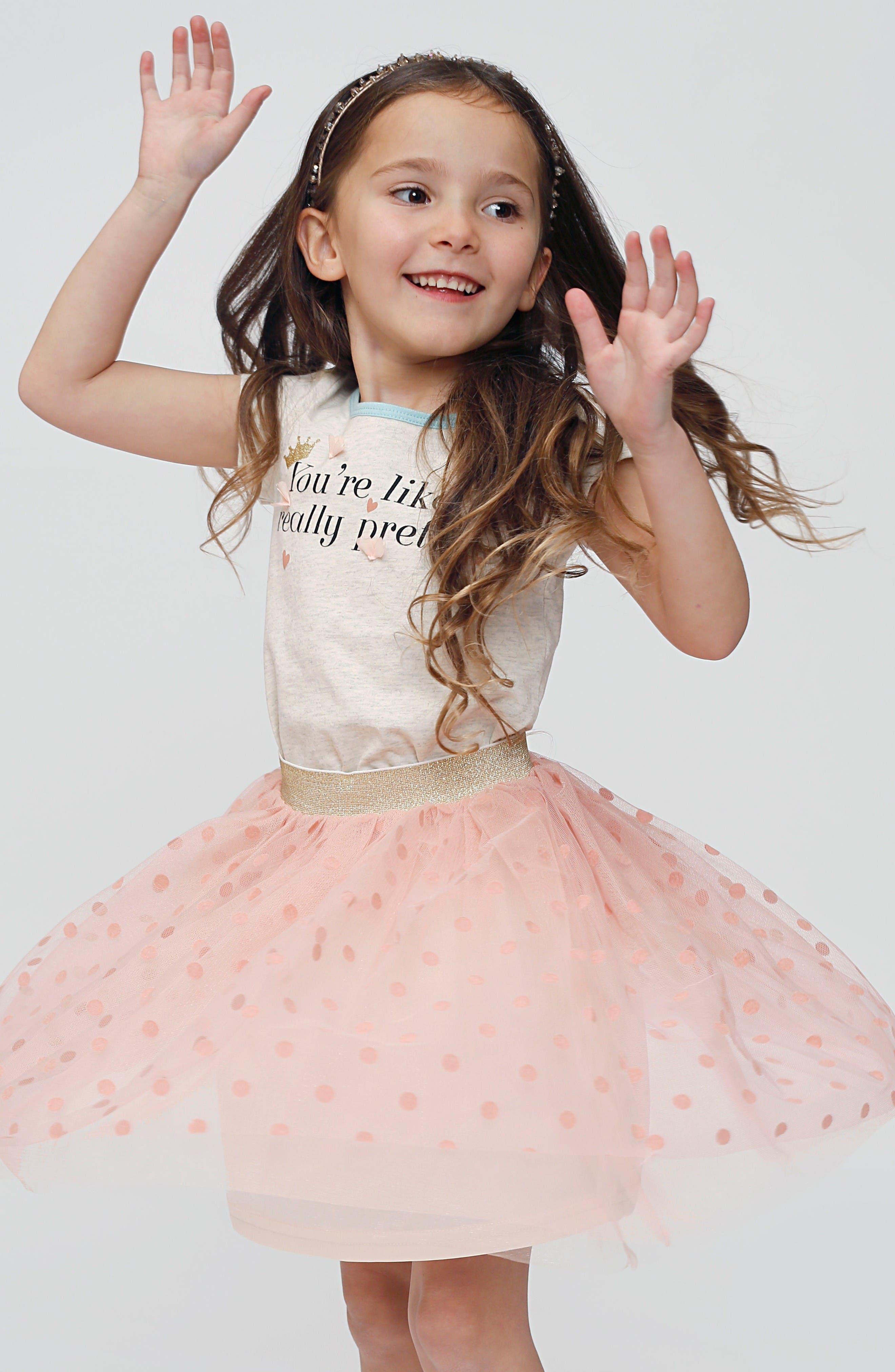 Alternate Image 2  - Truly Me Polka Dot Tutu Skirt (Toddler Girls & Little Girls)