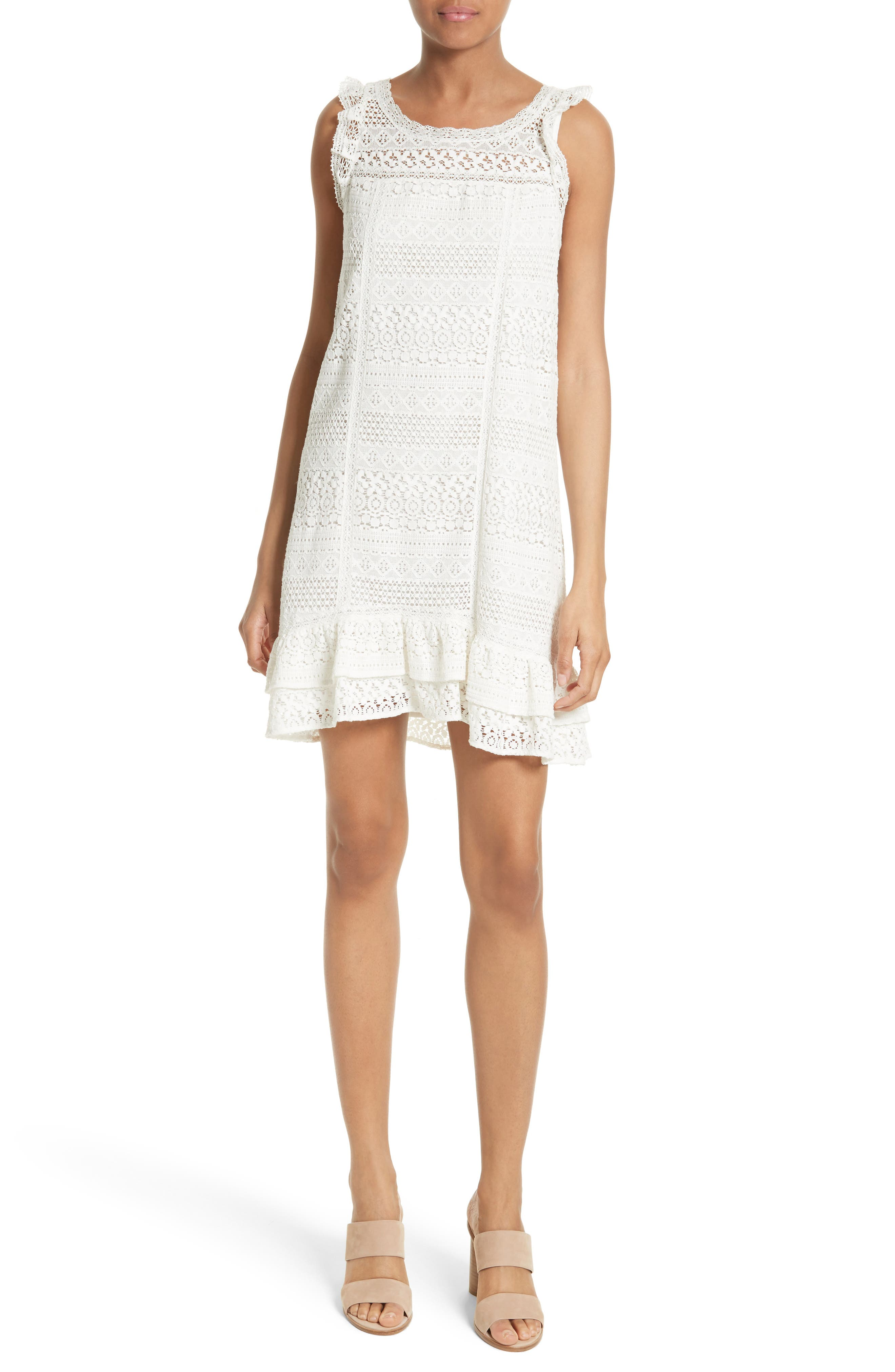 Joie Lindell Lace Shift Dress