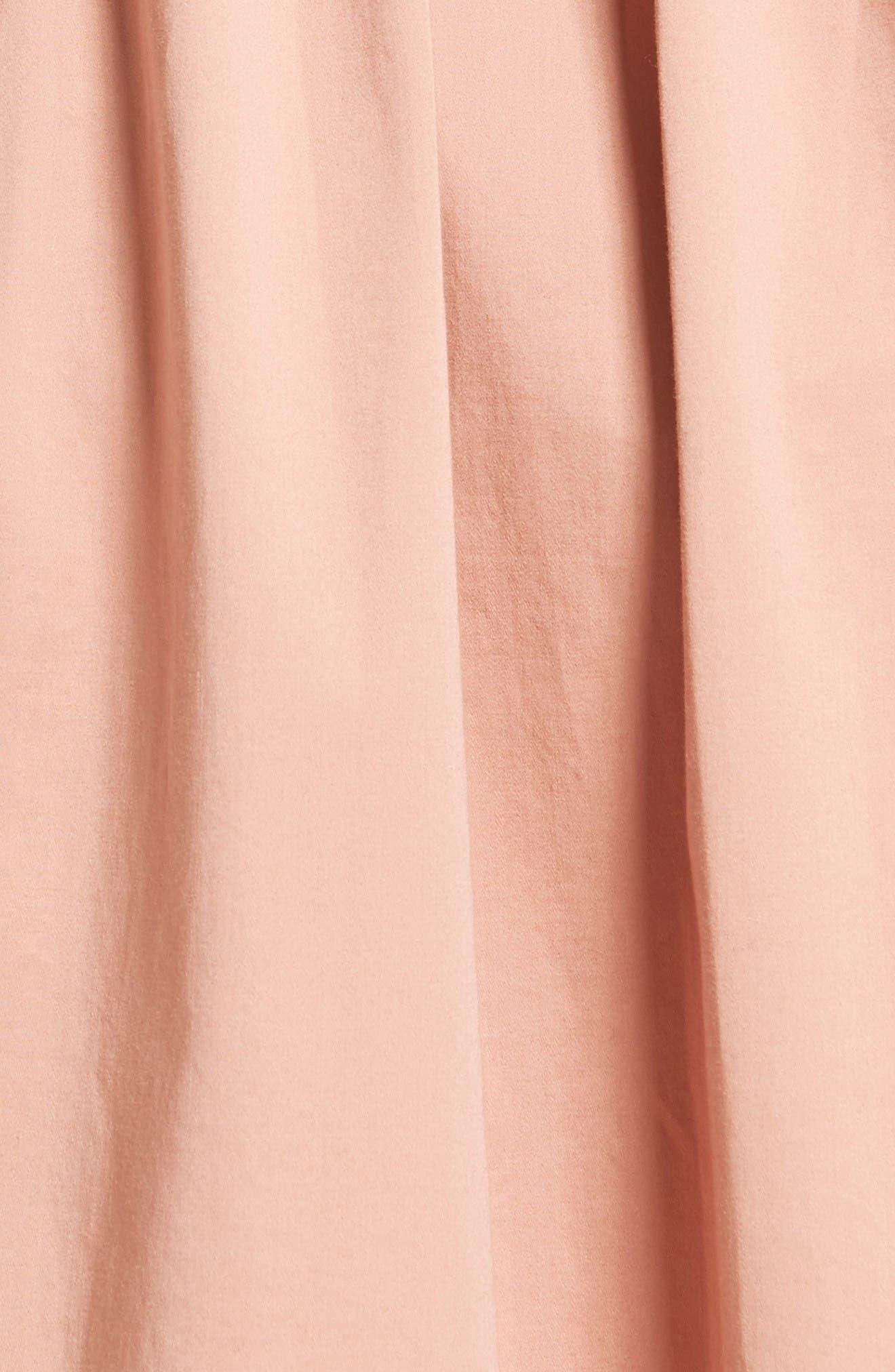 Alternate Image 5  - Rebecca Taylor Stretch Cotton Midi Dress
