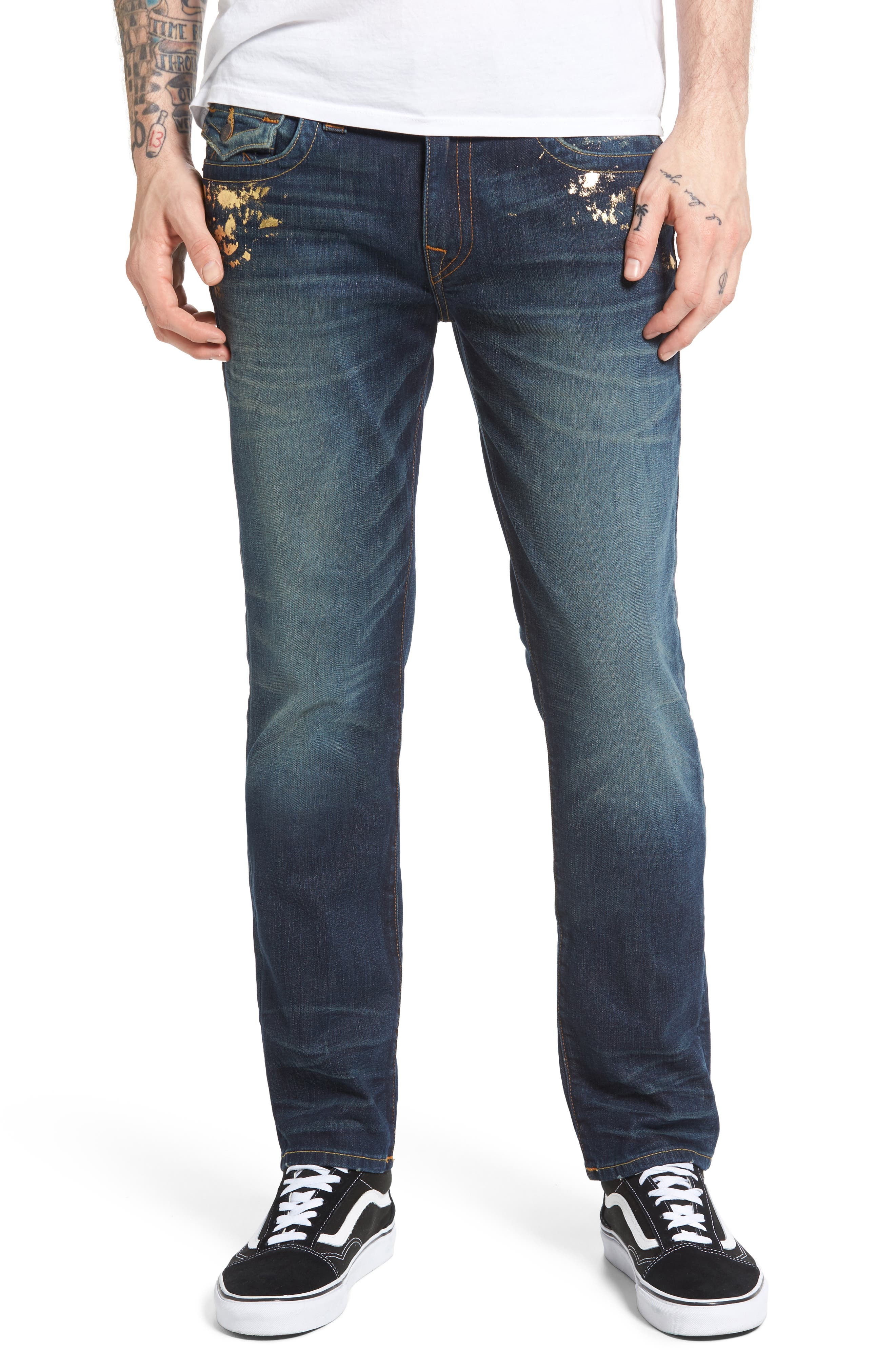 True Religion Brand Jeans Geno Straight Leg Jeans (Golden Dweller)