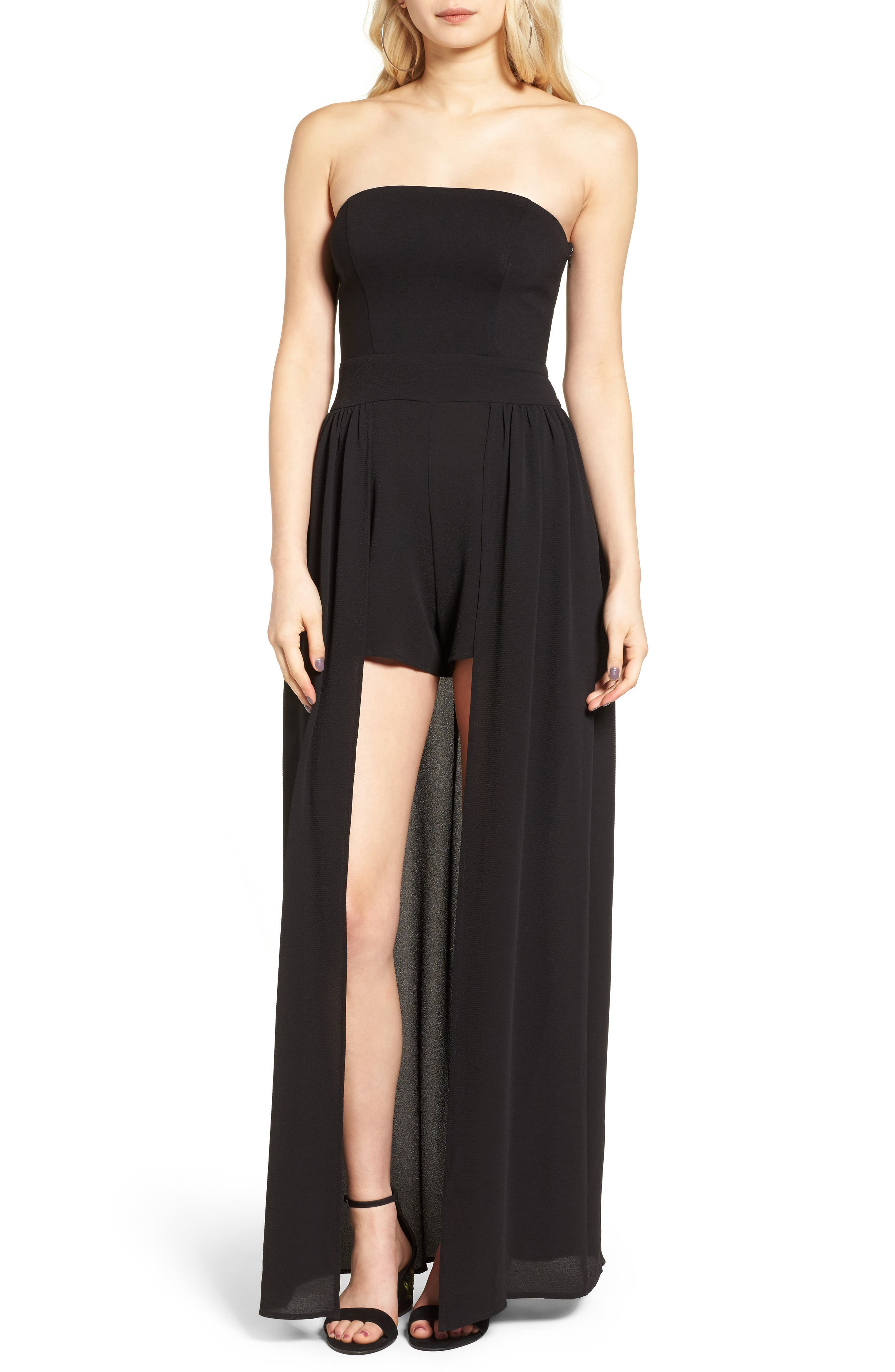 Main Image - Leith Strapless Maxi Romper