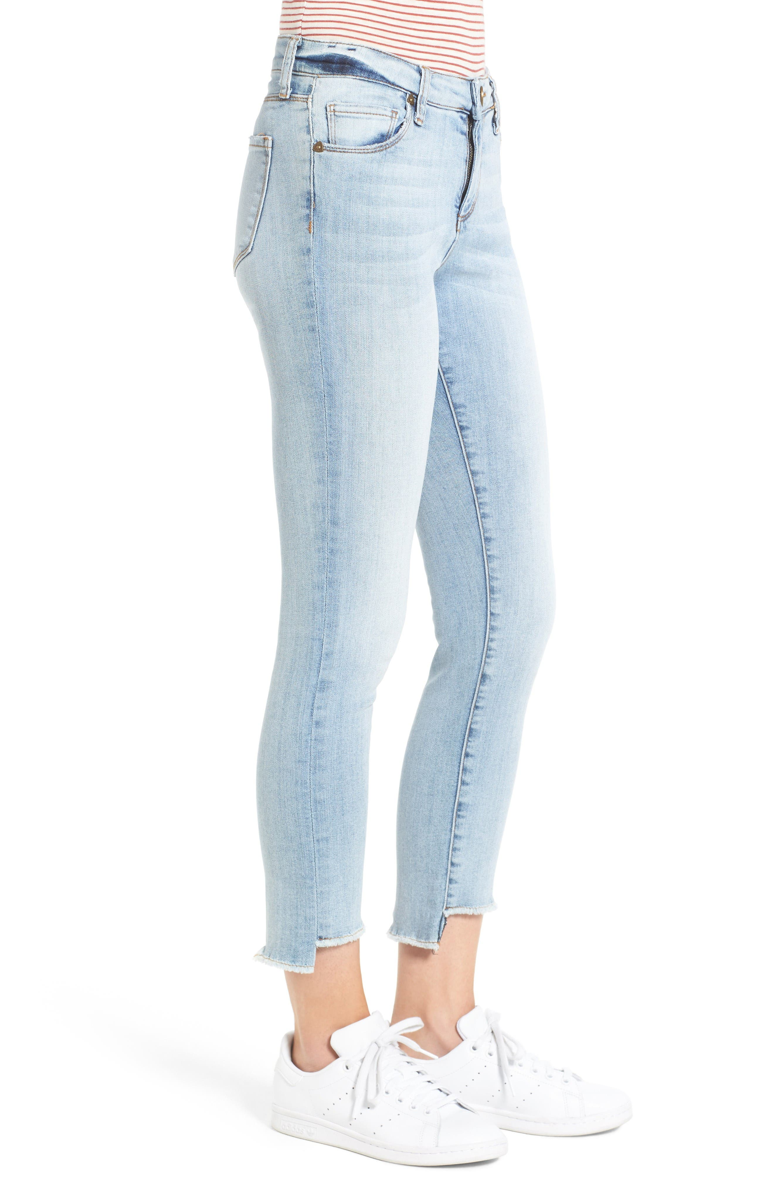 Alternate Image 3  - Kut from the Kloth Reese Uneven Hem Straight Ankle Jeans (Celebratory)