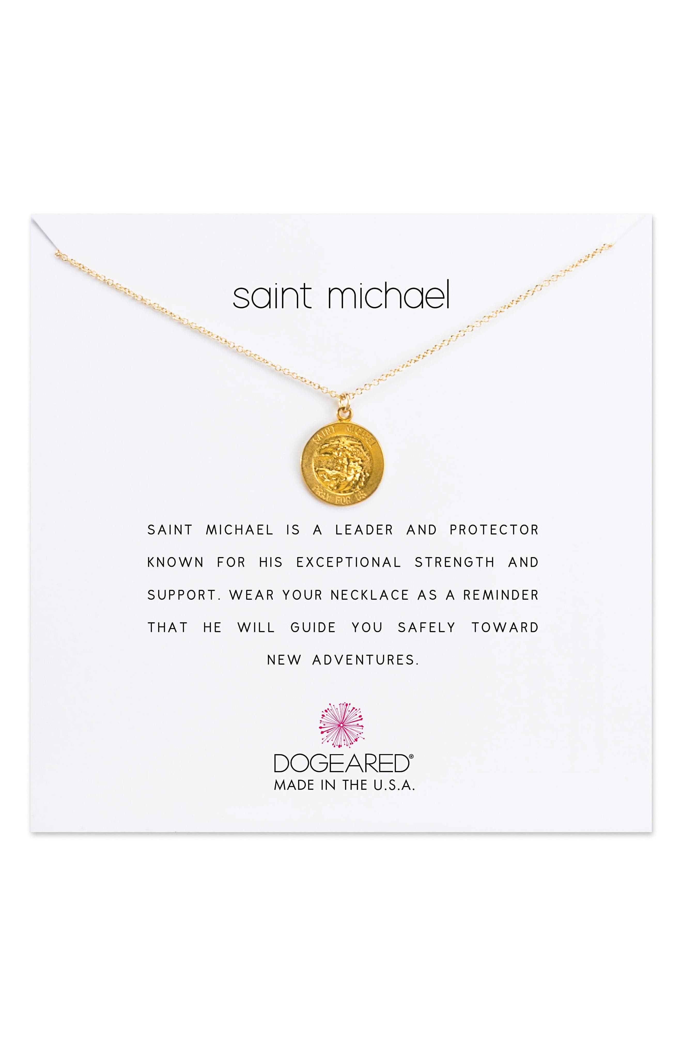 DOGEARED Saint Michael Pendant Necklace