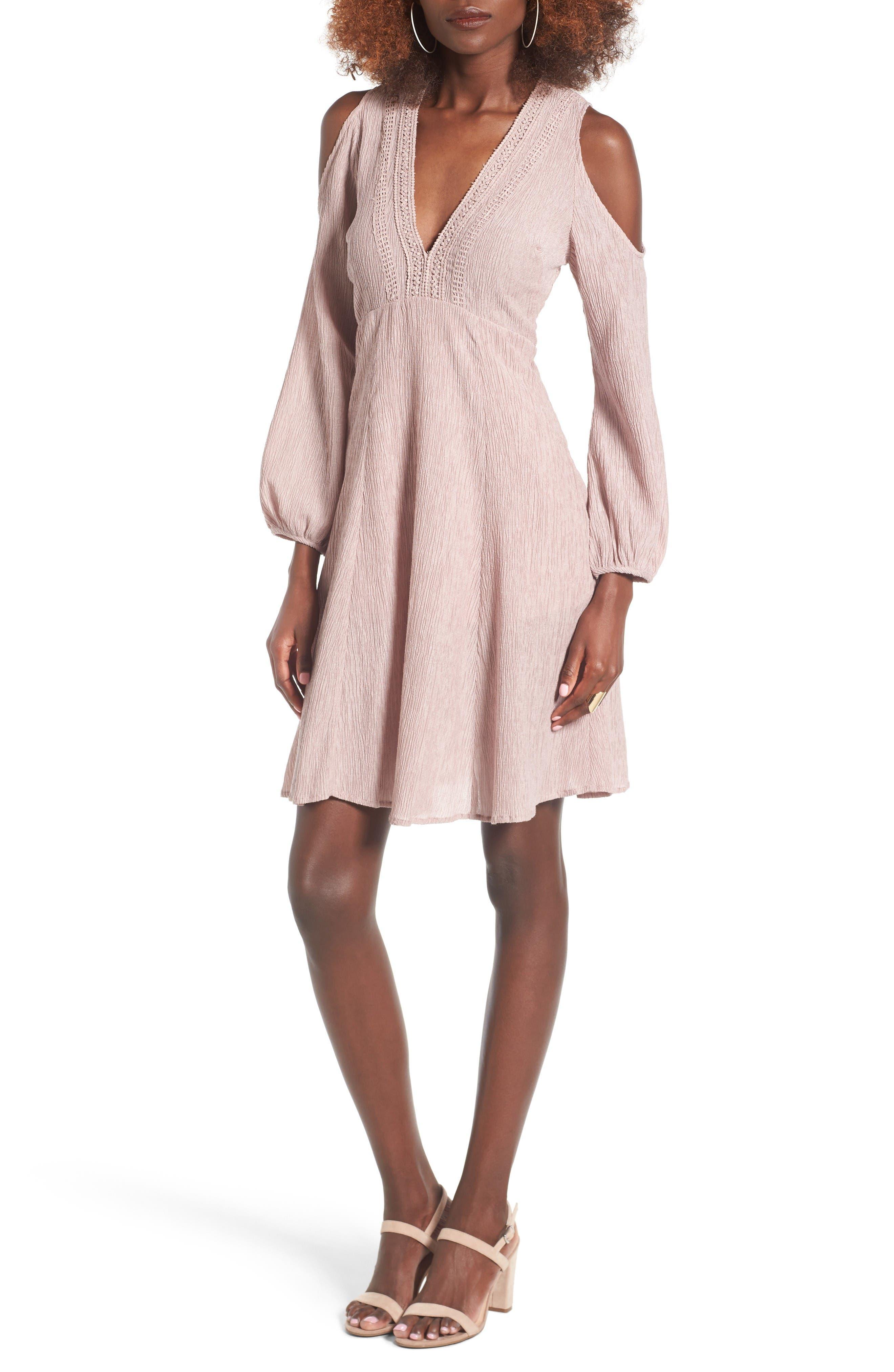 Alternate Image 1 Selected - Lush Cold Shoulder Dress