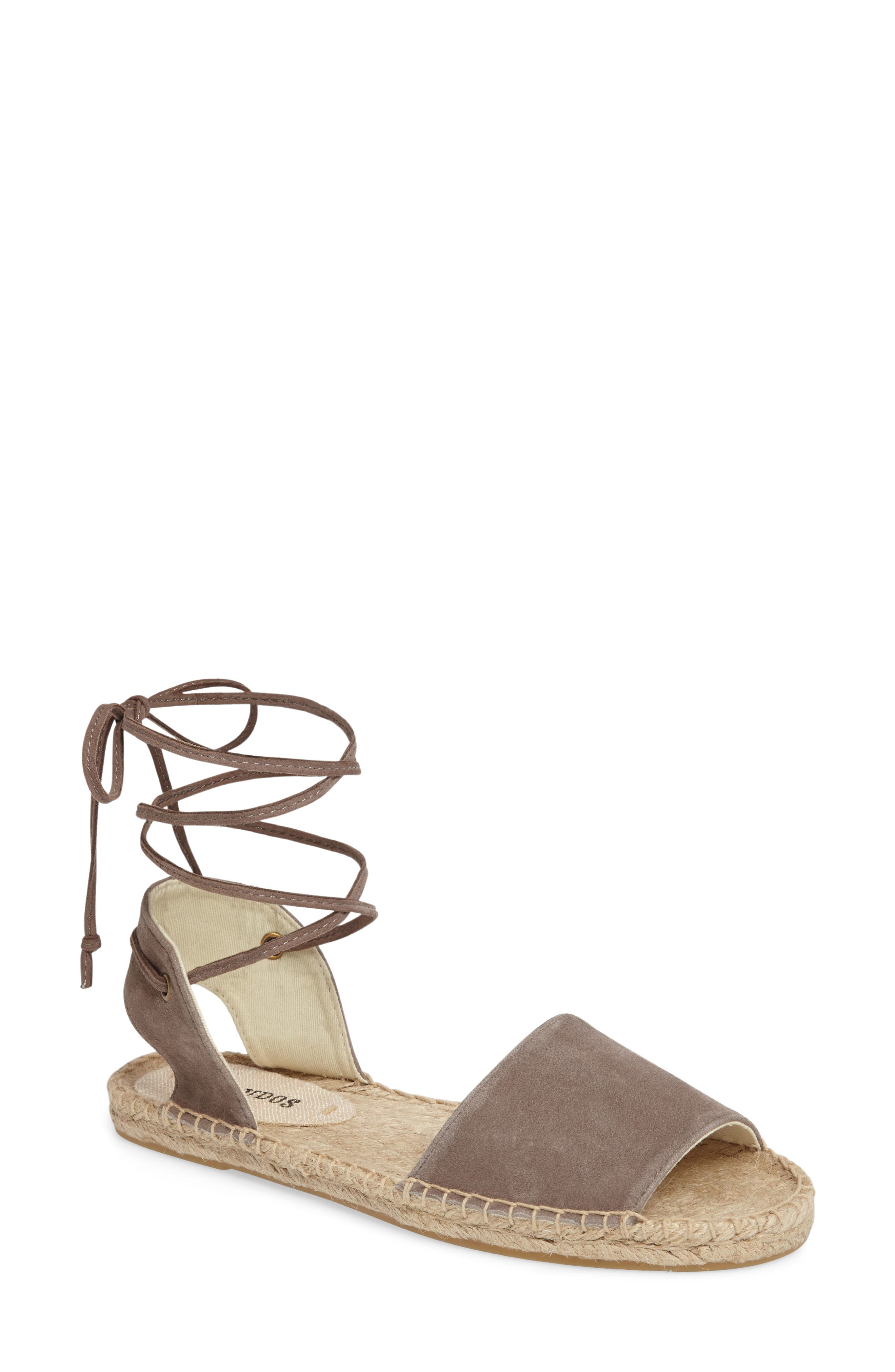 Alternate Image 1 Selected - Soludos Lace-Up Sandal (Women)