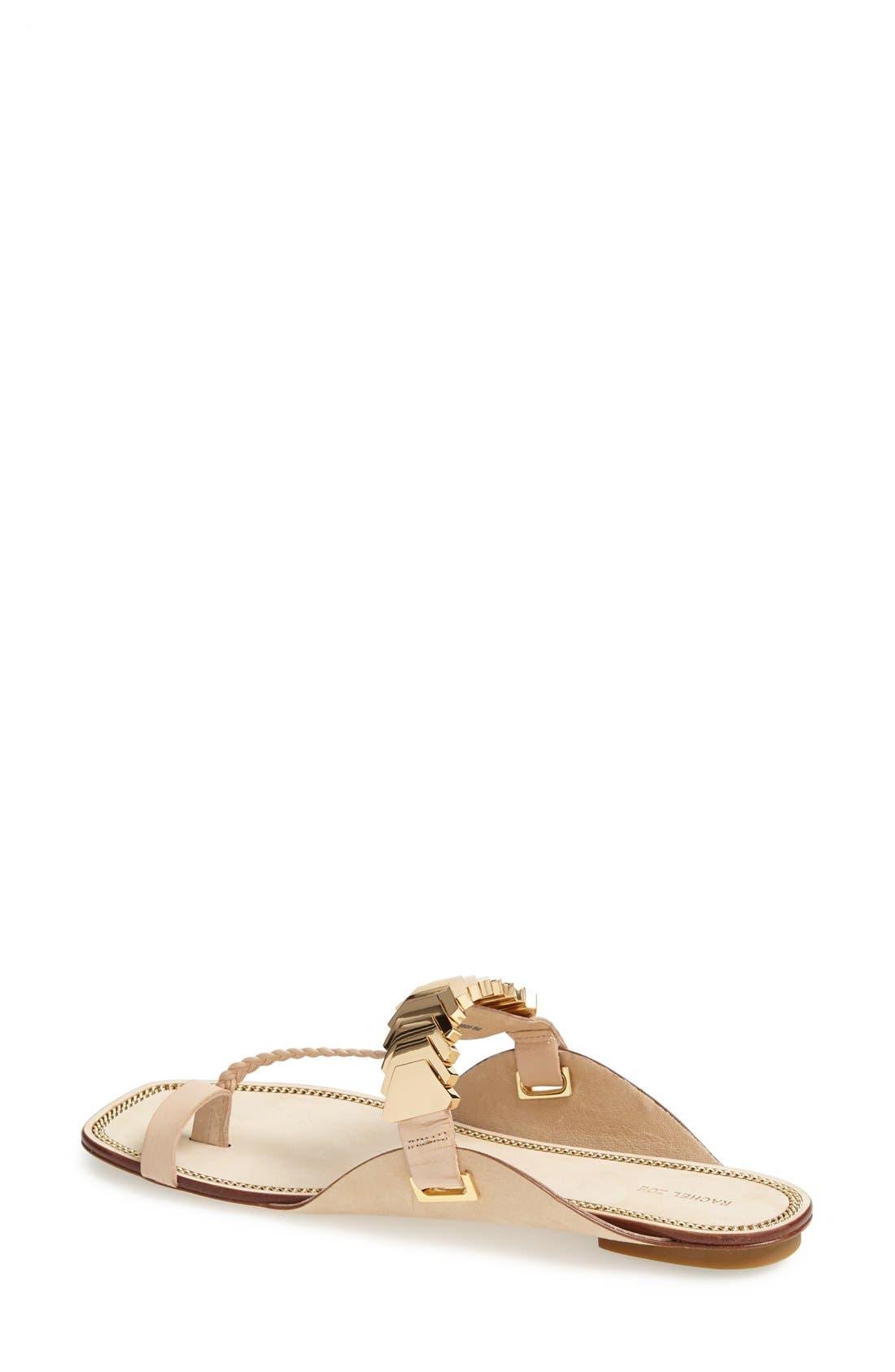 Alternate Image 2  - Rachel Zoe 'Ida' Leather Toe Loop Sandal (Women)