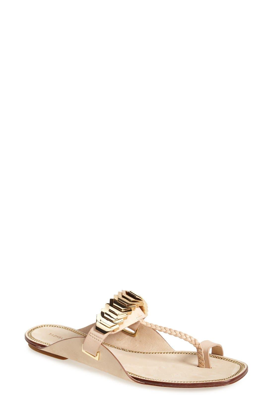 Alternate Image 1 Selected - Rachel Zoe 'Ida' Leather Toe Loop Sandal (Women)