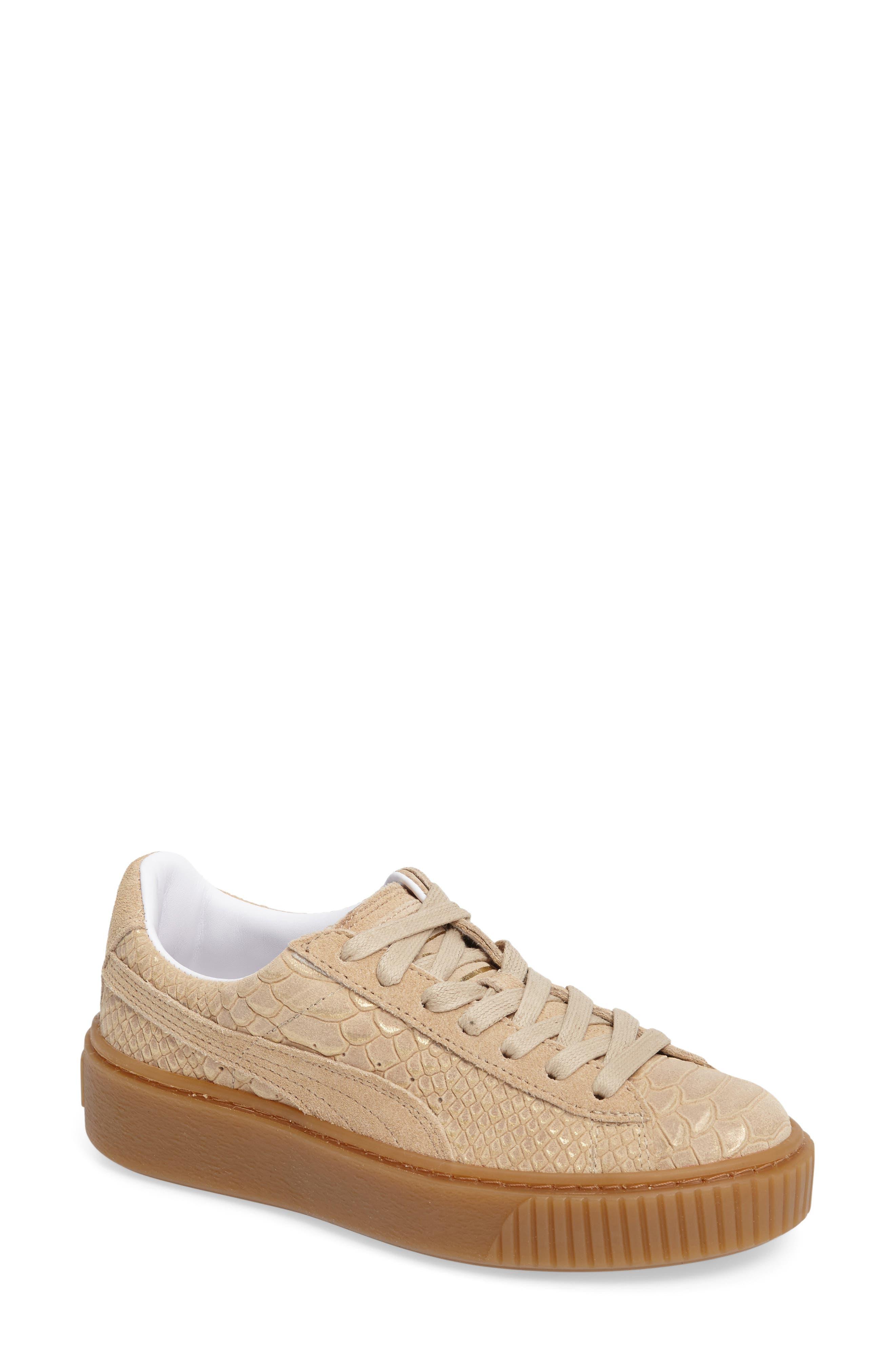 PUMA Exotic Skin Platform Sneaker (Women)