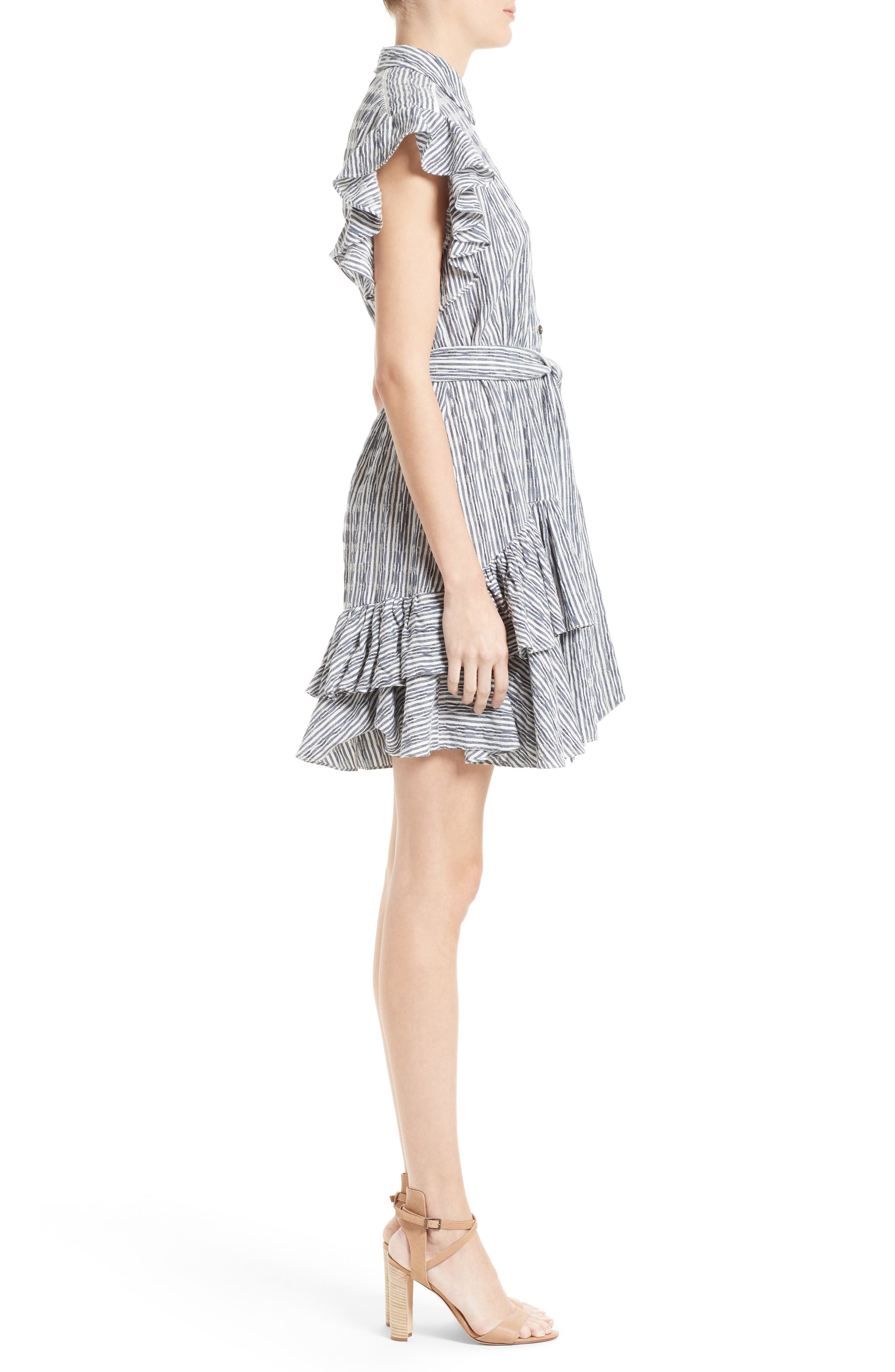 Alternate Image 3  - Rebecca Taylor Stripe Shirtdress