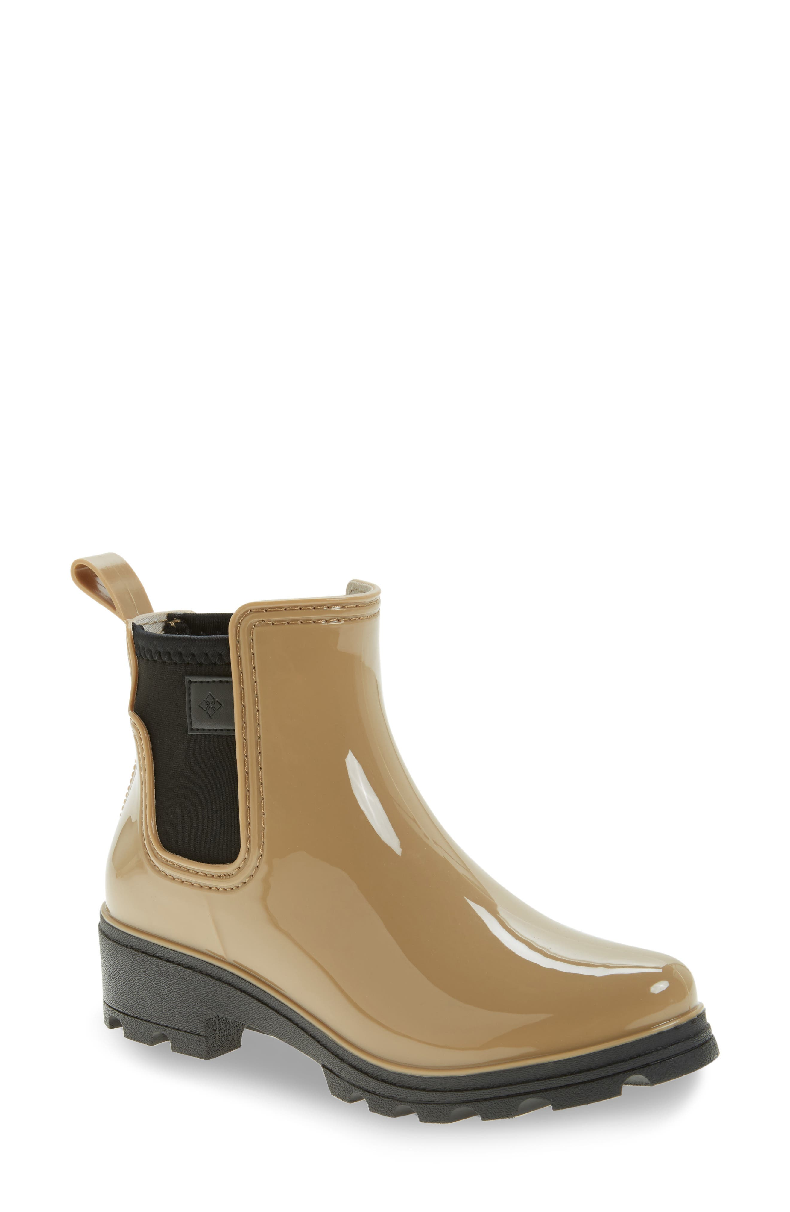 däv 'Prague' Waterproof Chelsea Rain Boot (Women)