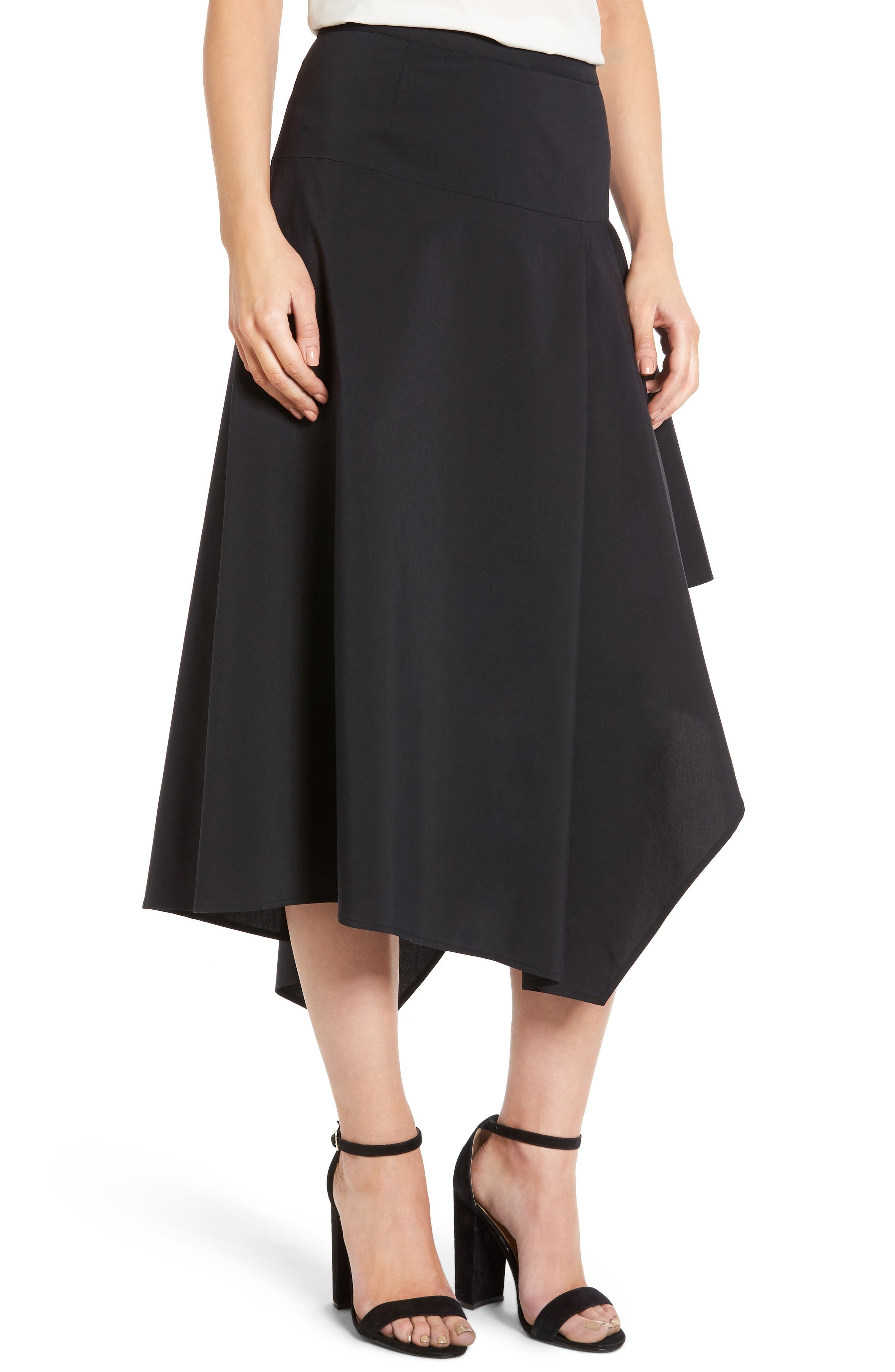 Trouvé Asymmetrical Midi Skirt