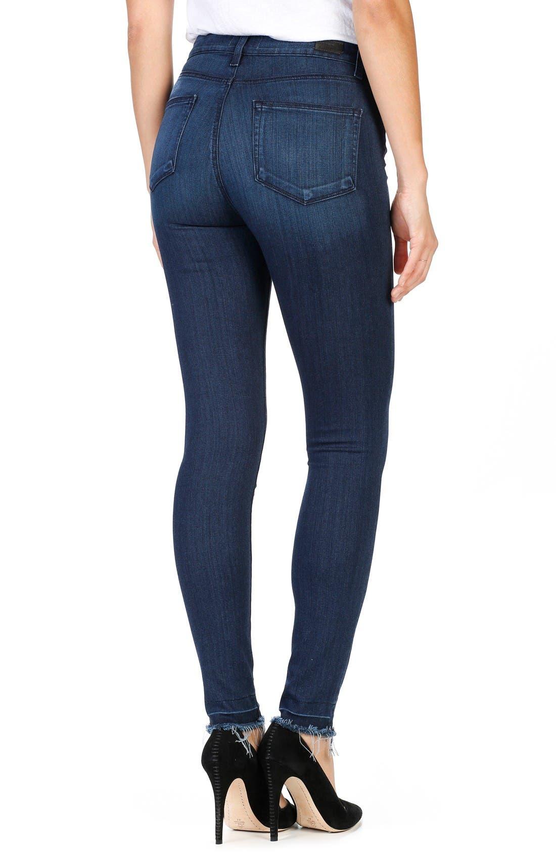 Alternate Image 2  - PAIGE Hoxton Ankle Ultra Skinny Jeans (Henrietta)