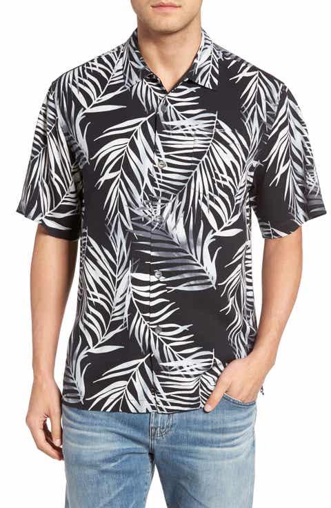 Tommy Bahama Beyond Frond Silk Camp Shirt (Big   Tall)